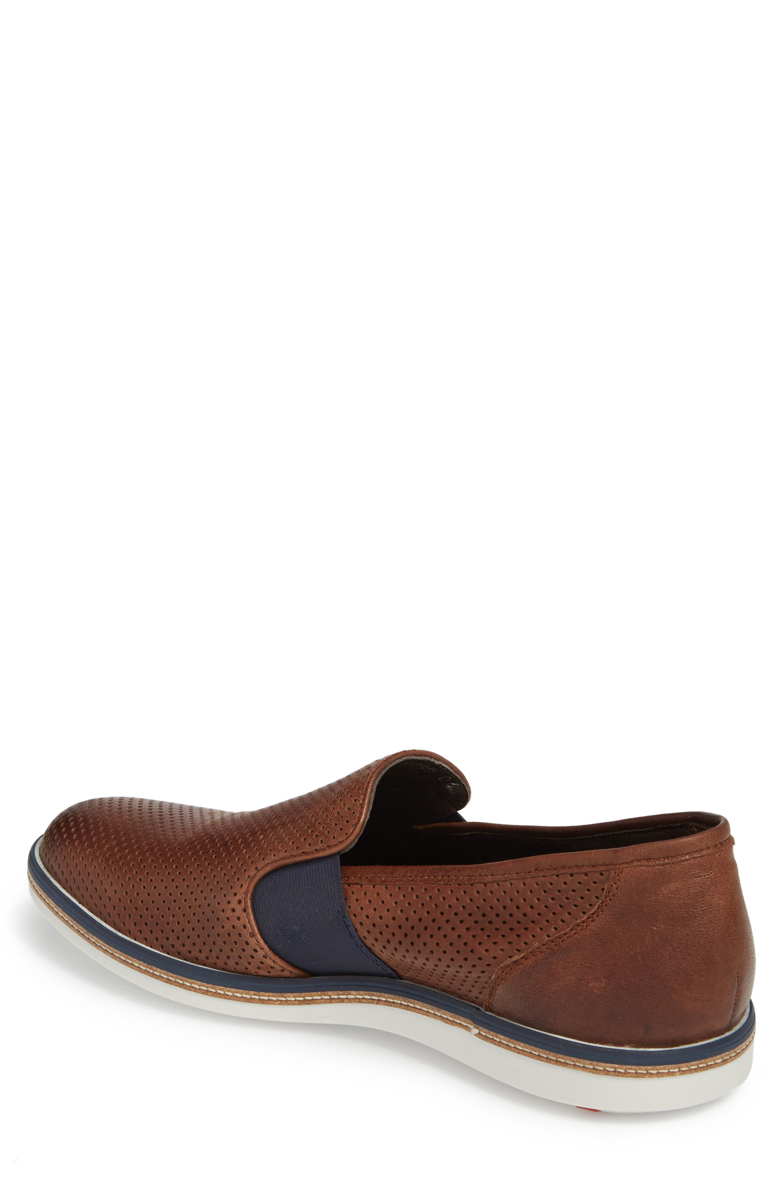 Alister Perforated Loafer,                             Alternate thumbnail 2, color,                             Tobacco Leather