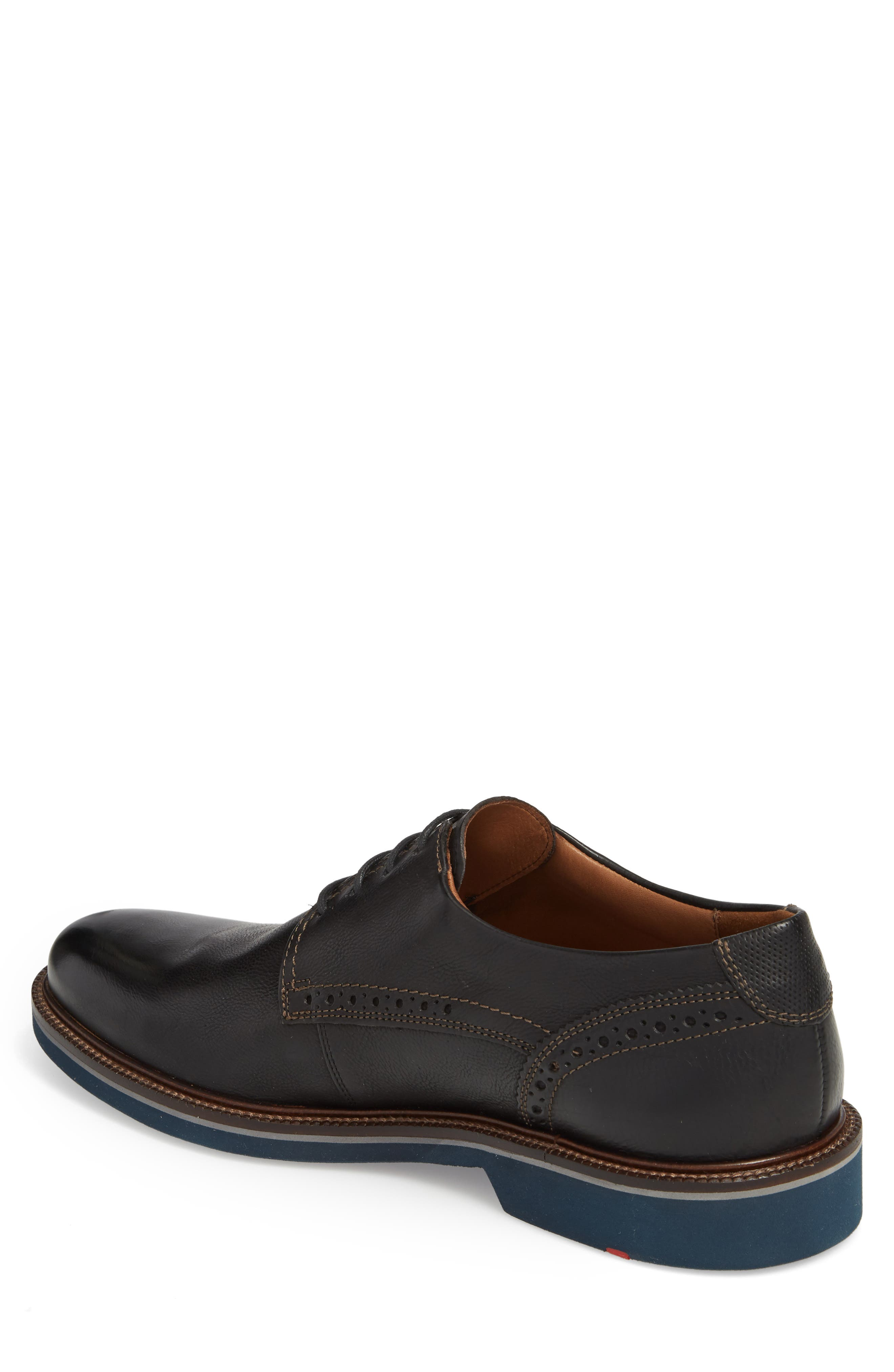 Hagen Plain Toe Derby,                             Alternate thumbnail 2, color,                             Black Leather