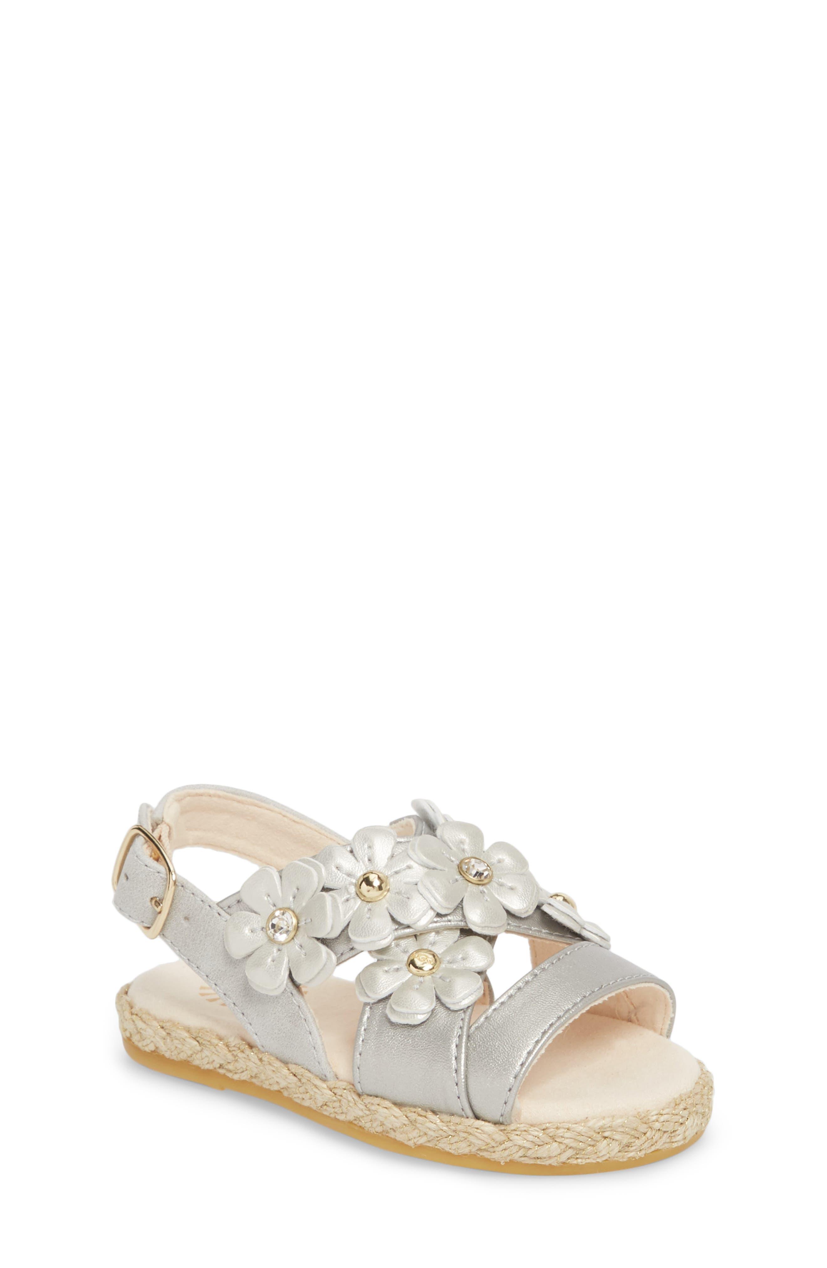 Allairey Sparkles Espadrille Sandal,                         Main,                         color, Silver