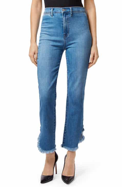 2756d5bf7c73 J Brand Stovepipe Fringe Hem Straight Leg Jeans (Sawyer)