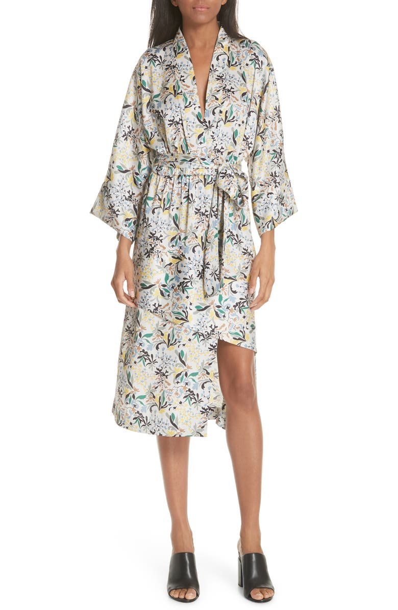 Floral Print Robe Dress