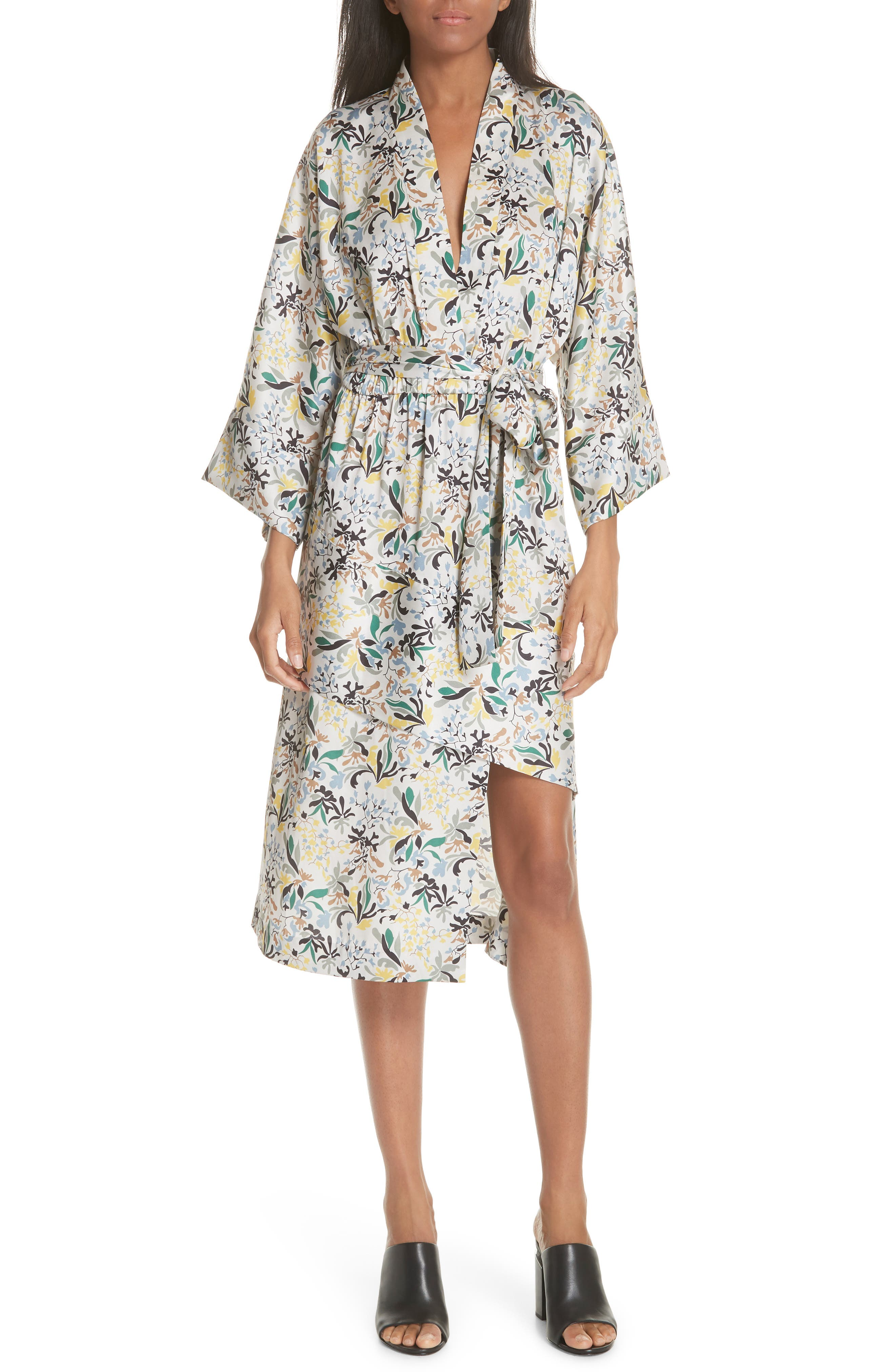 Robert Rodriguez Floral Print Robe Dress