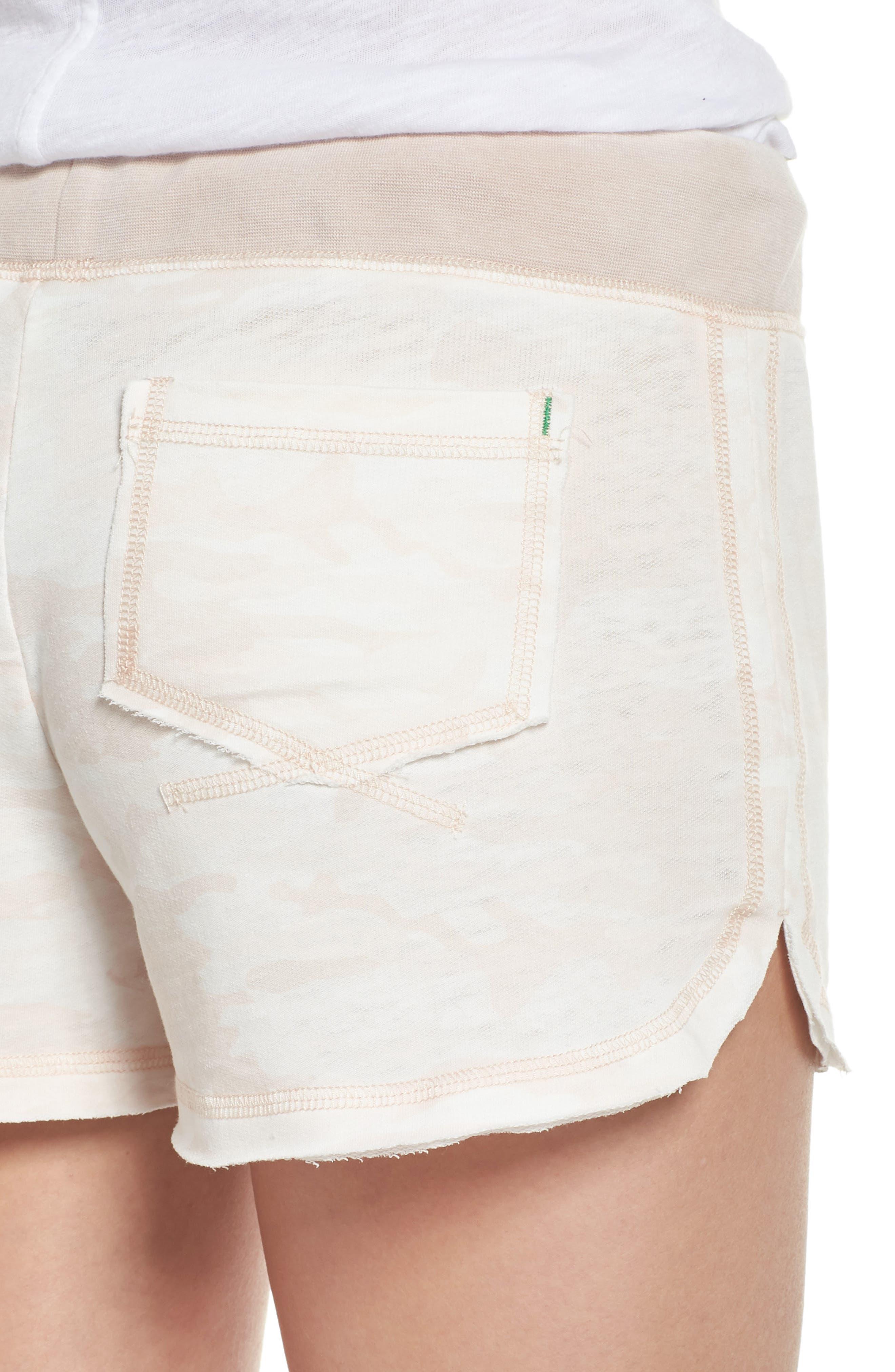 Burnout Lounge Shorts,                             Alternate thumbnail 5, color,                             Pink Camo