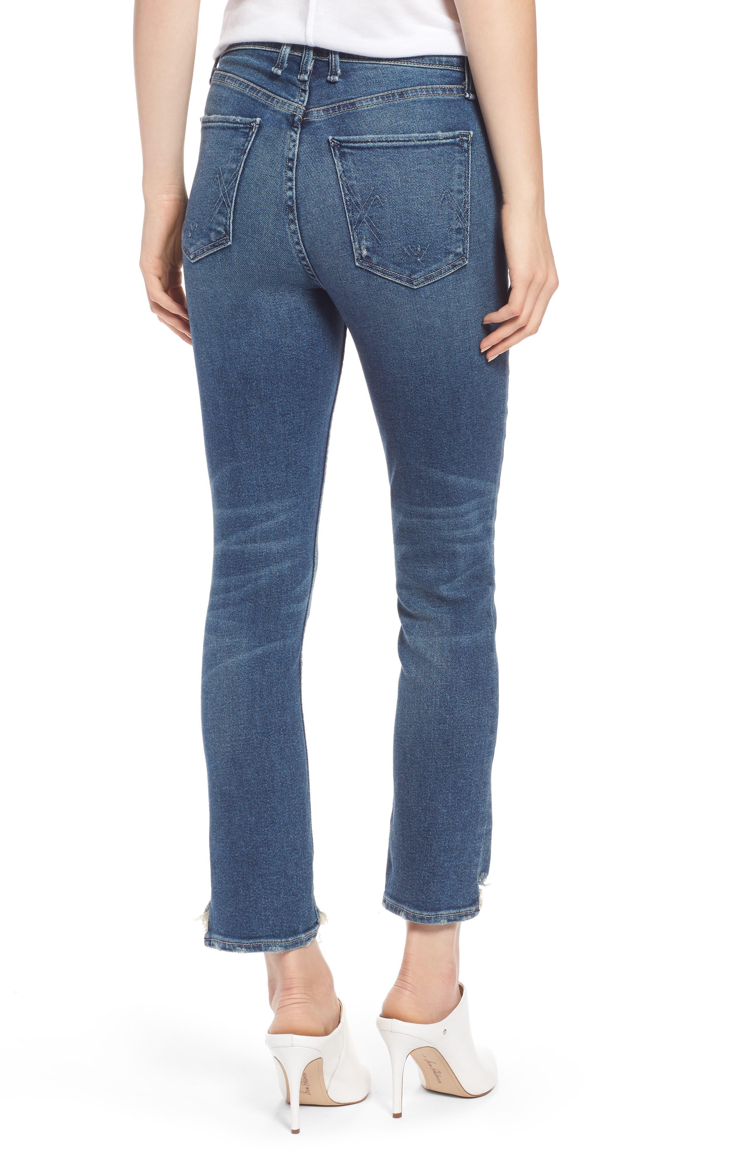 Valetta High Waist Crop Straight Leg Jeans,                             Alternate thumbnail 2, color,                             Way Up North