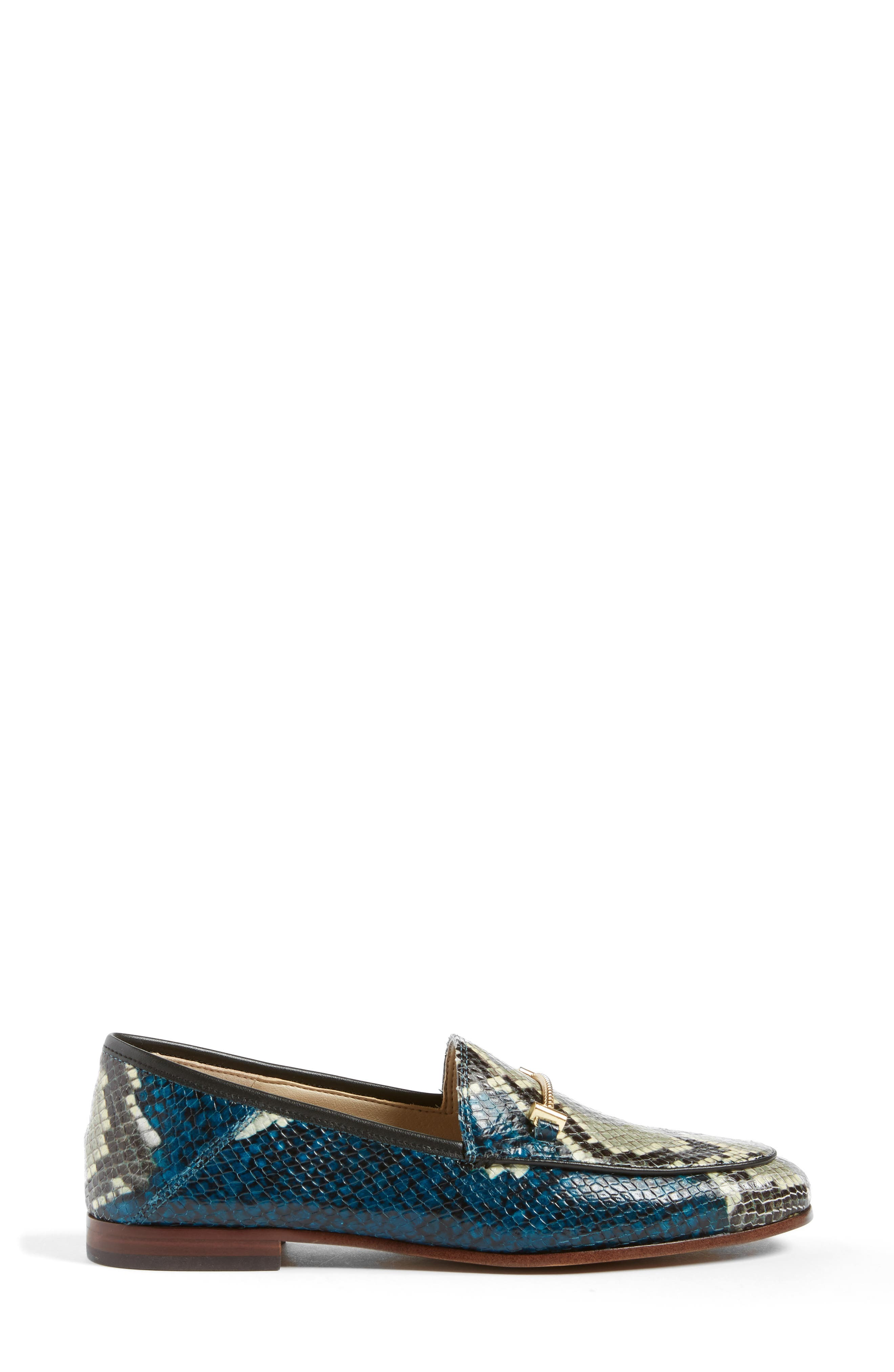 Lior Loafer,                             Alternate thumbnail 5, color,                             Peacock Blue Snake Print