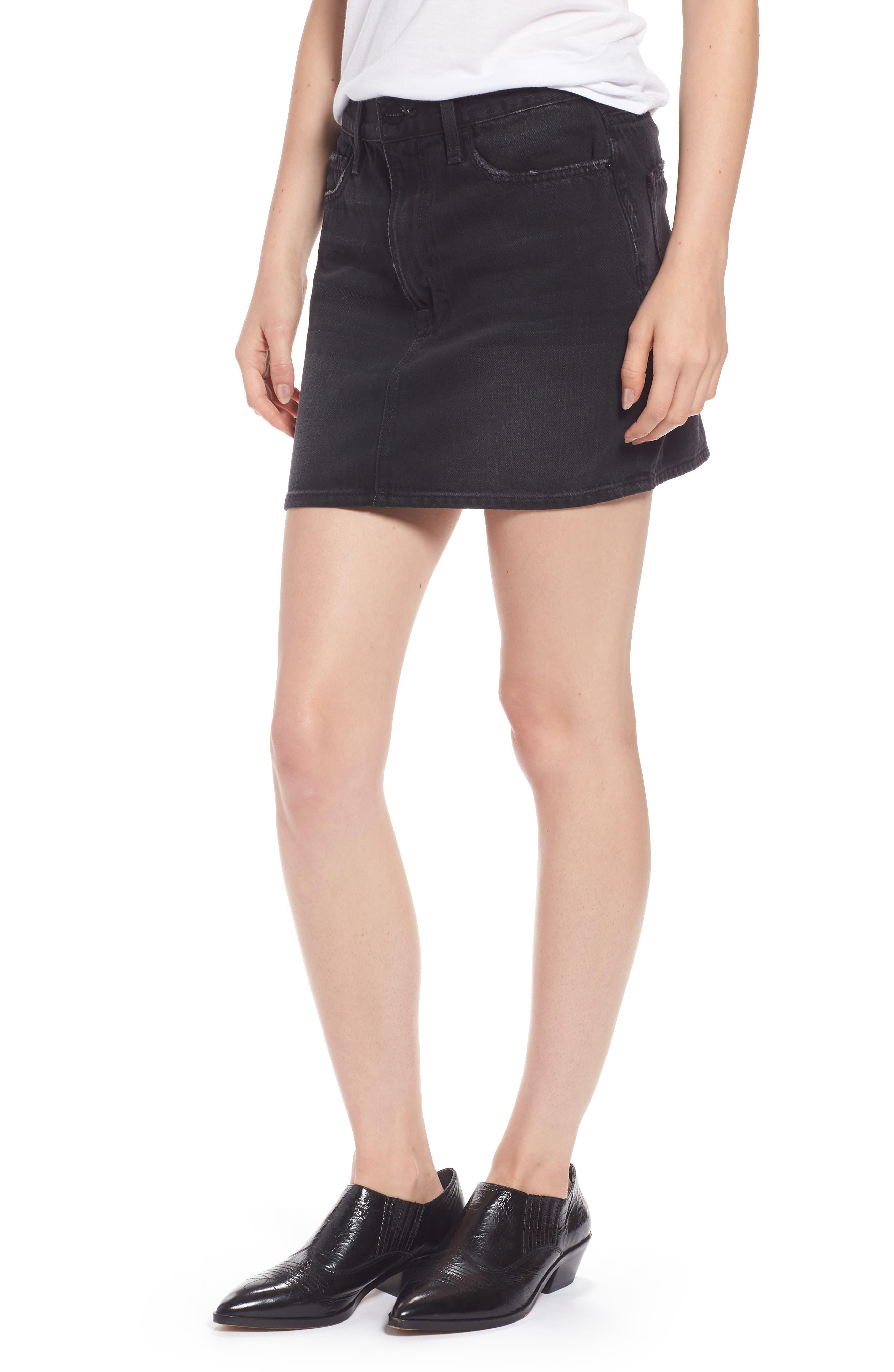 Le Mini Denim Skirt,                             Main thumbnail 1, color,                             Conwell