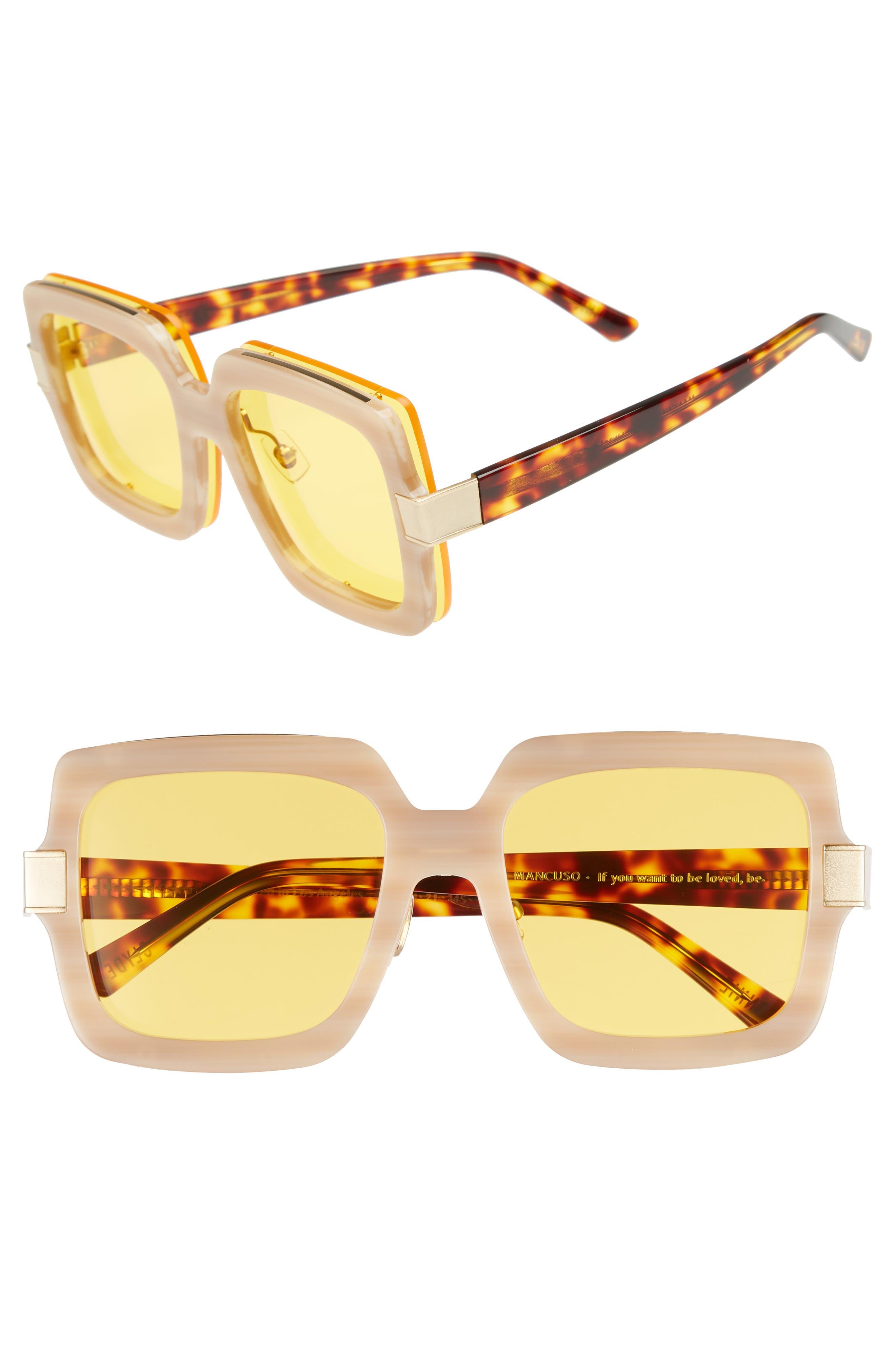 Mancuso 54mm Sunglasses,                         Main,                         color, Red Elm/ Yellow