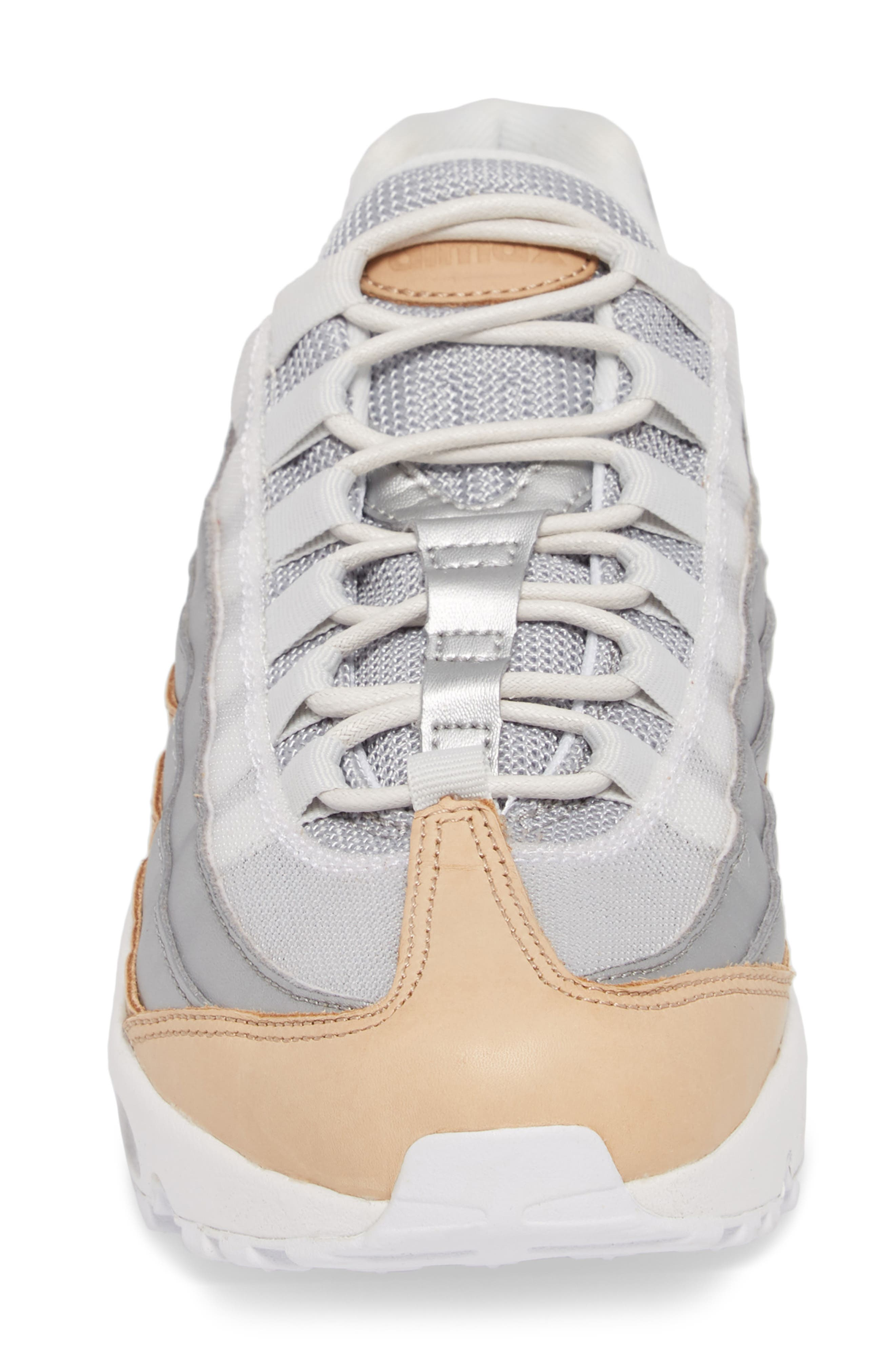 Air Max 95 Special Edition Running Shoe,                             Alternate thumbnail 4, color,                             Platinum/ Silver/ White