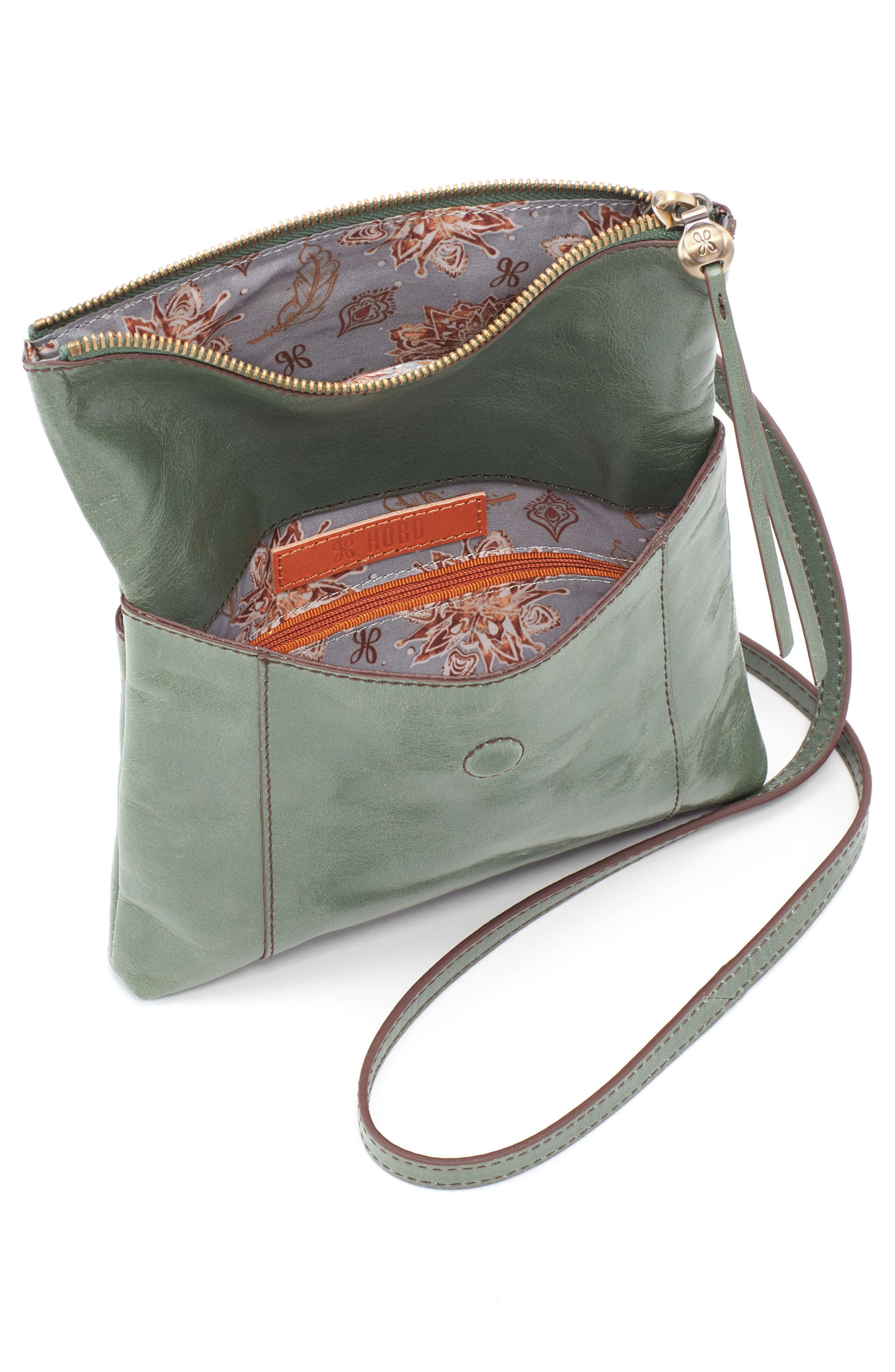 Sparrow Foldover Crossbody Bag,                             Alternate thumbnail 3, color,                             Moss
