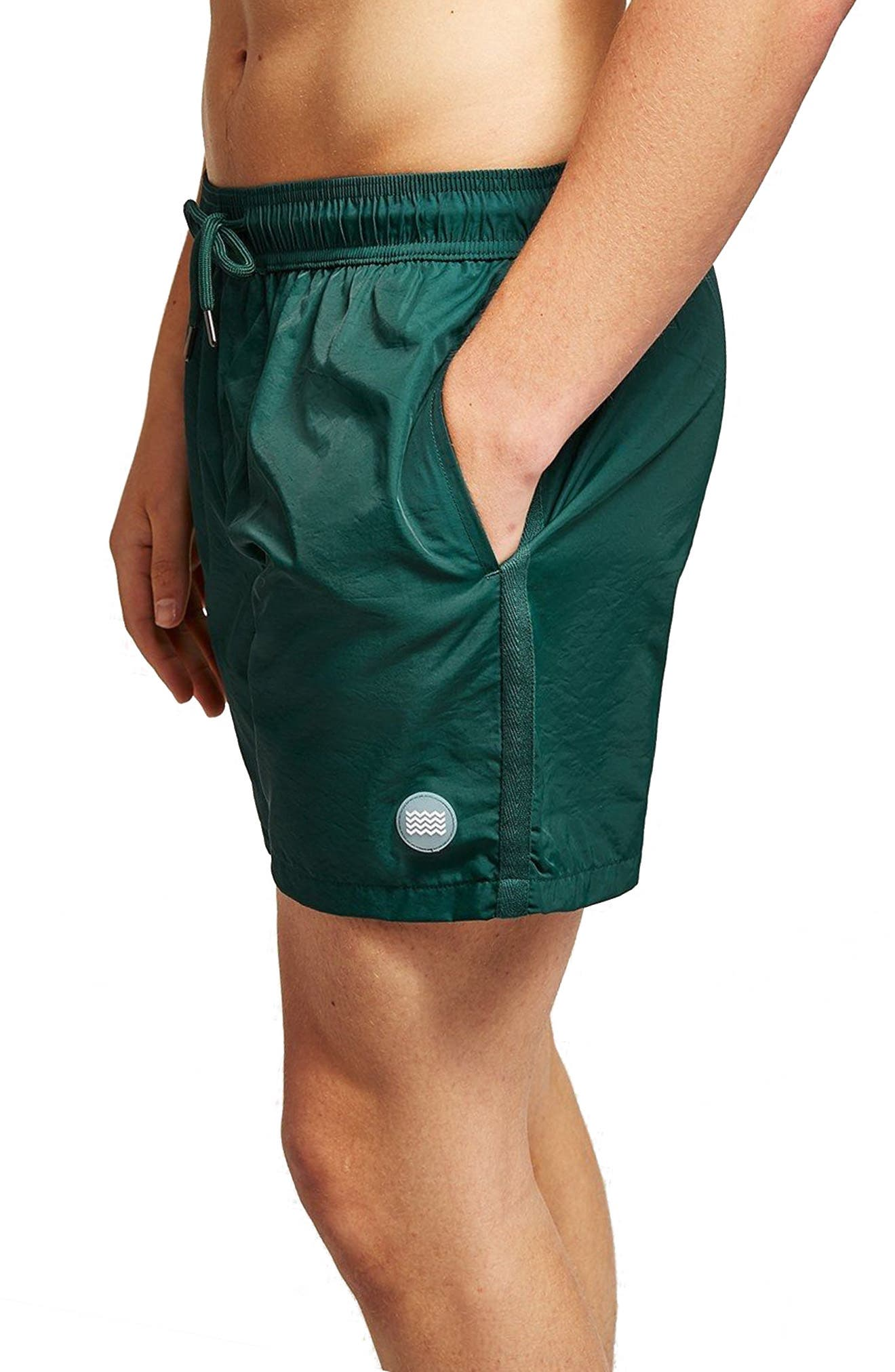 Classic Fit Swim Trunks,                         Main,                         color, Green