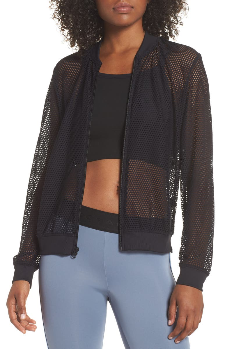 Base Mesh Bomber Jacket