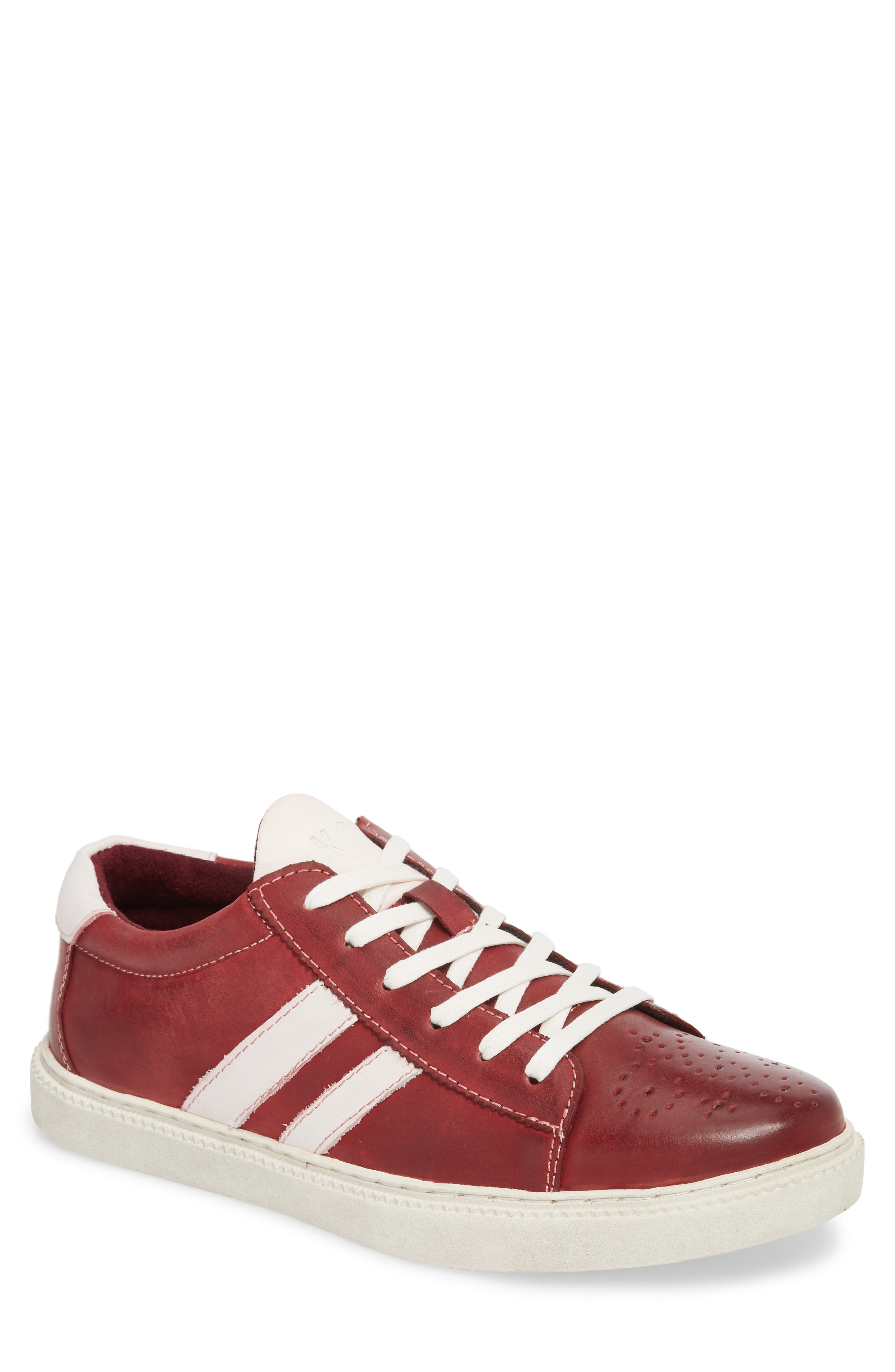 Madox Low Top Sneaker,                         Main,                         color, Red