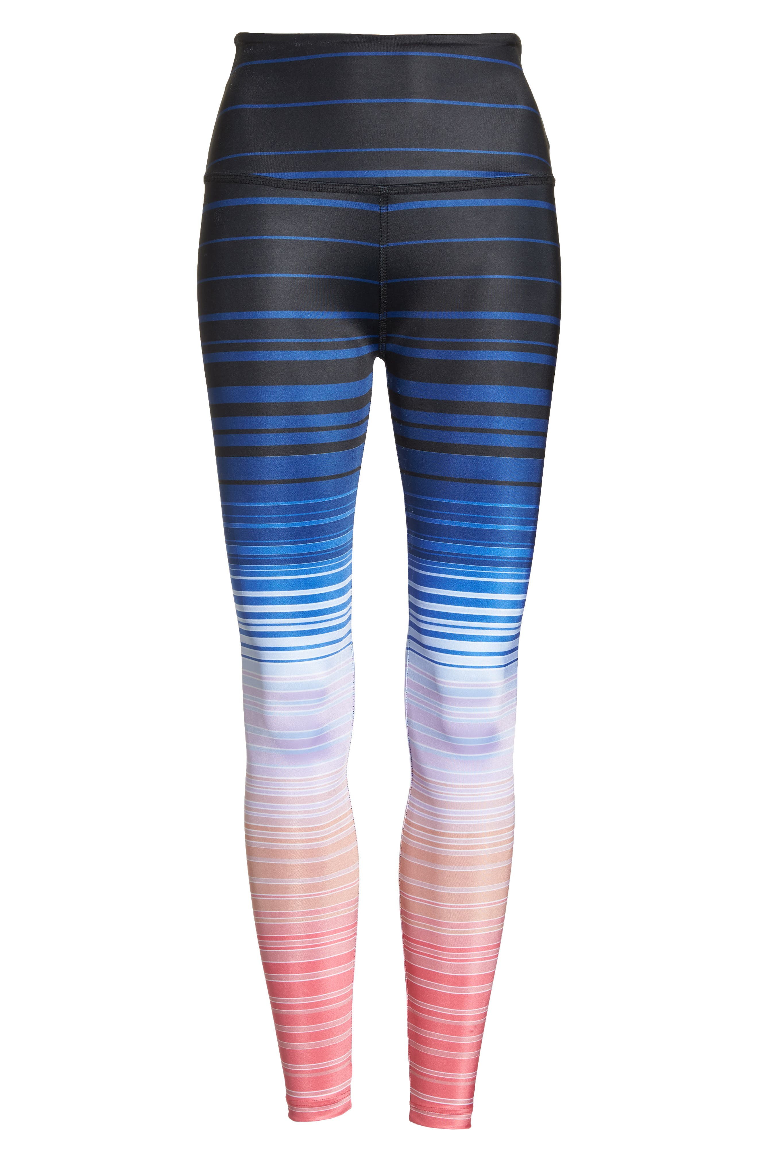 Summer Shades High Waist Leggings,                             Alternate thumbnail 7, color,                             Summer Shades