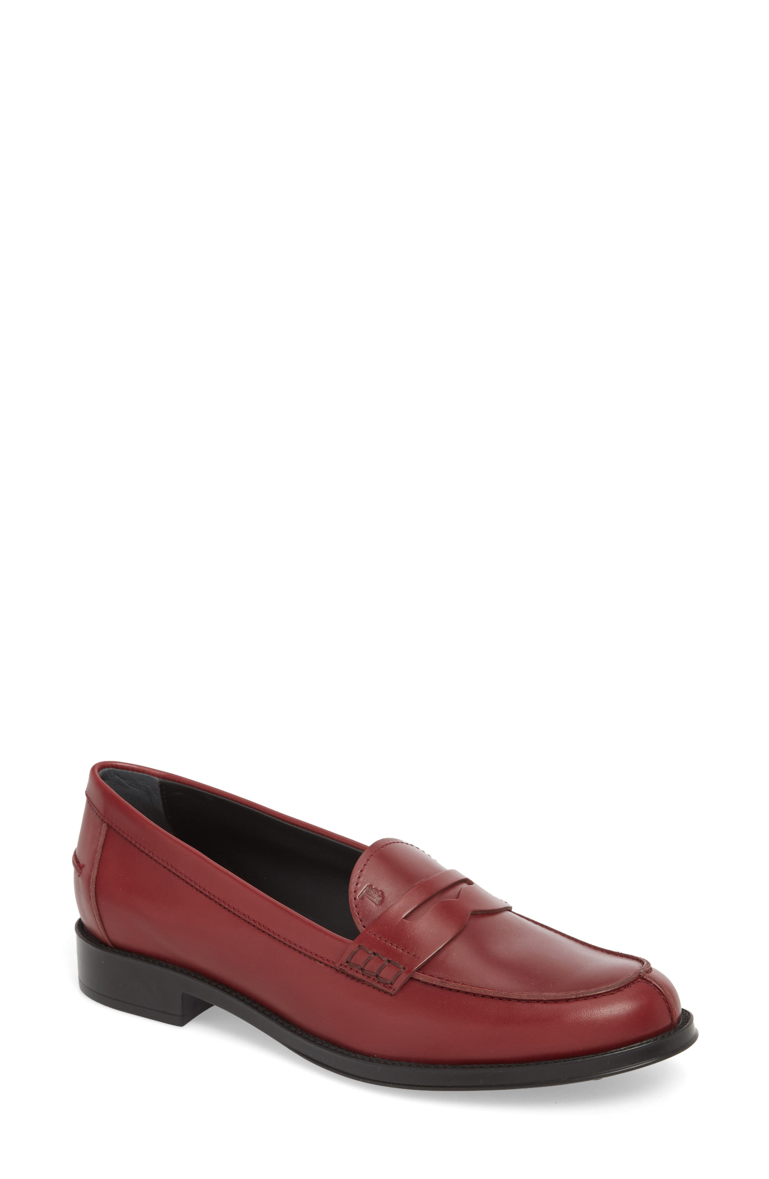 Penny Loafer,                             Main thumbnail 1, color,                             Burgundy