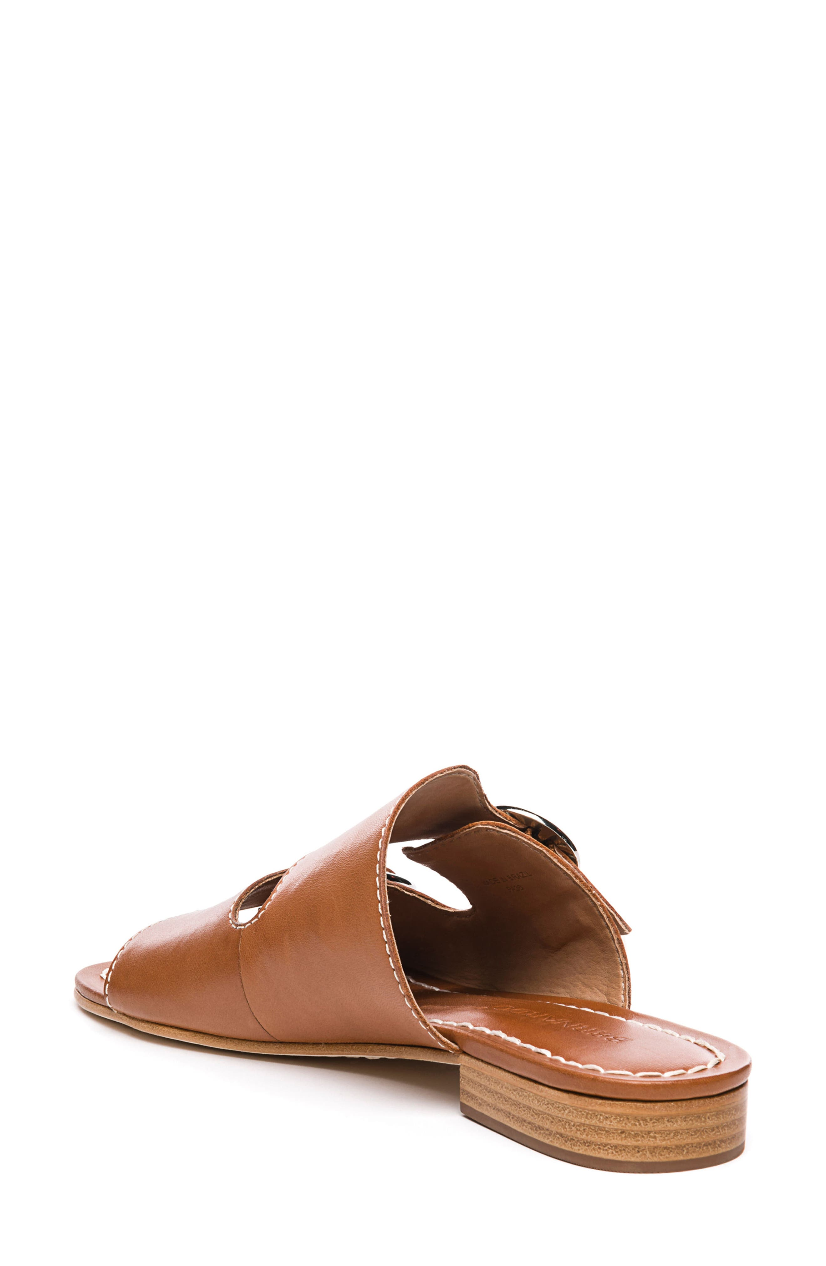 Bernardo Tobi Slide Sandal,                             Alternate thumbnail 2, color,                             Luggage Leather