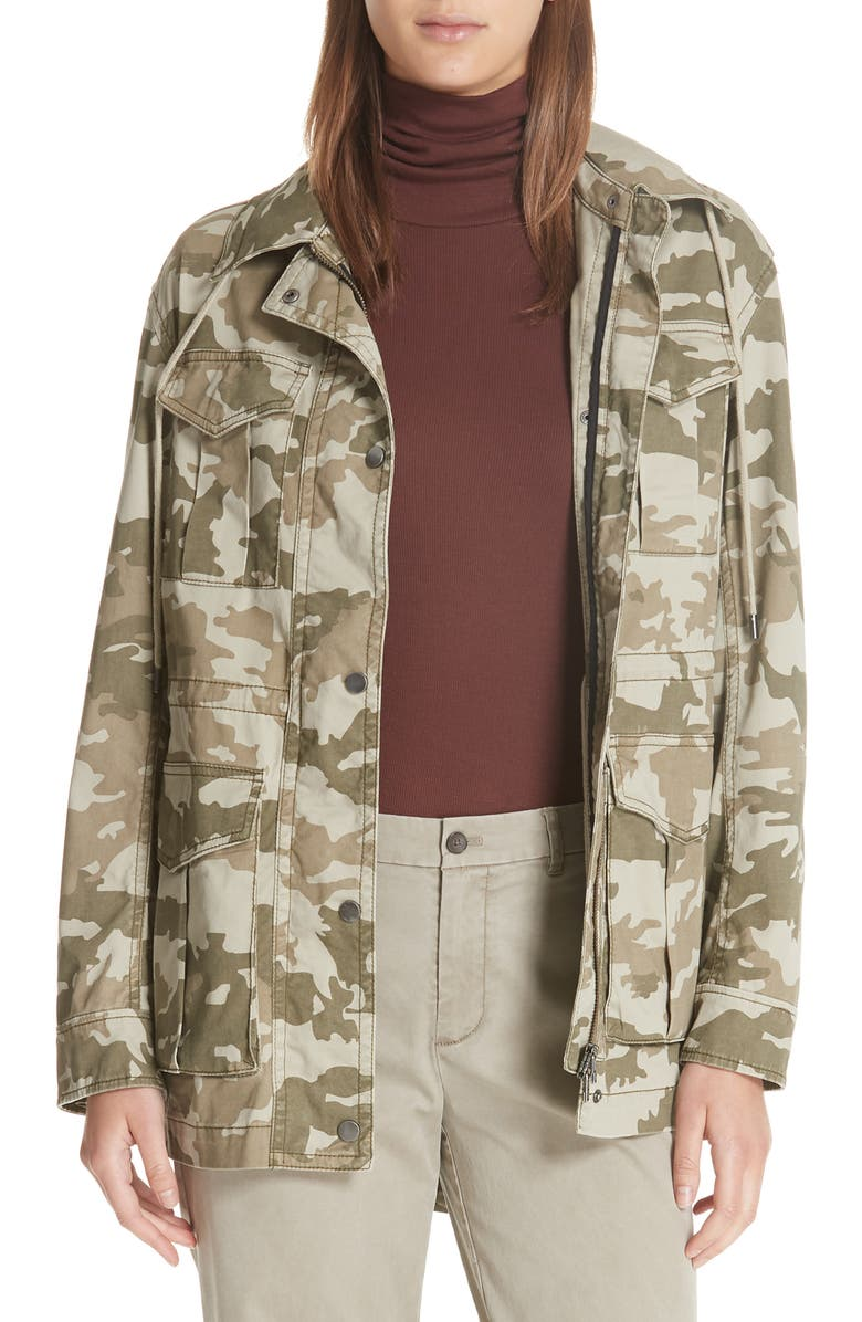 Camo Stretch Cotton Field Jacket