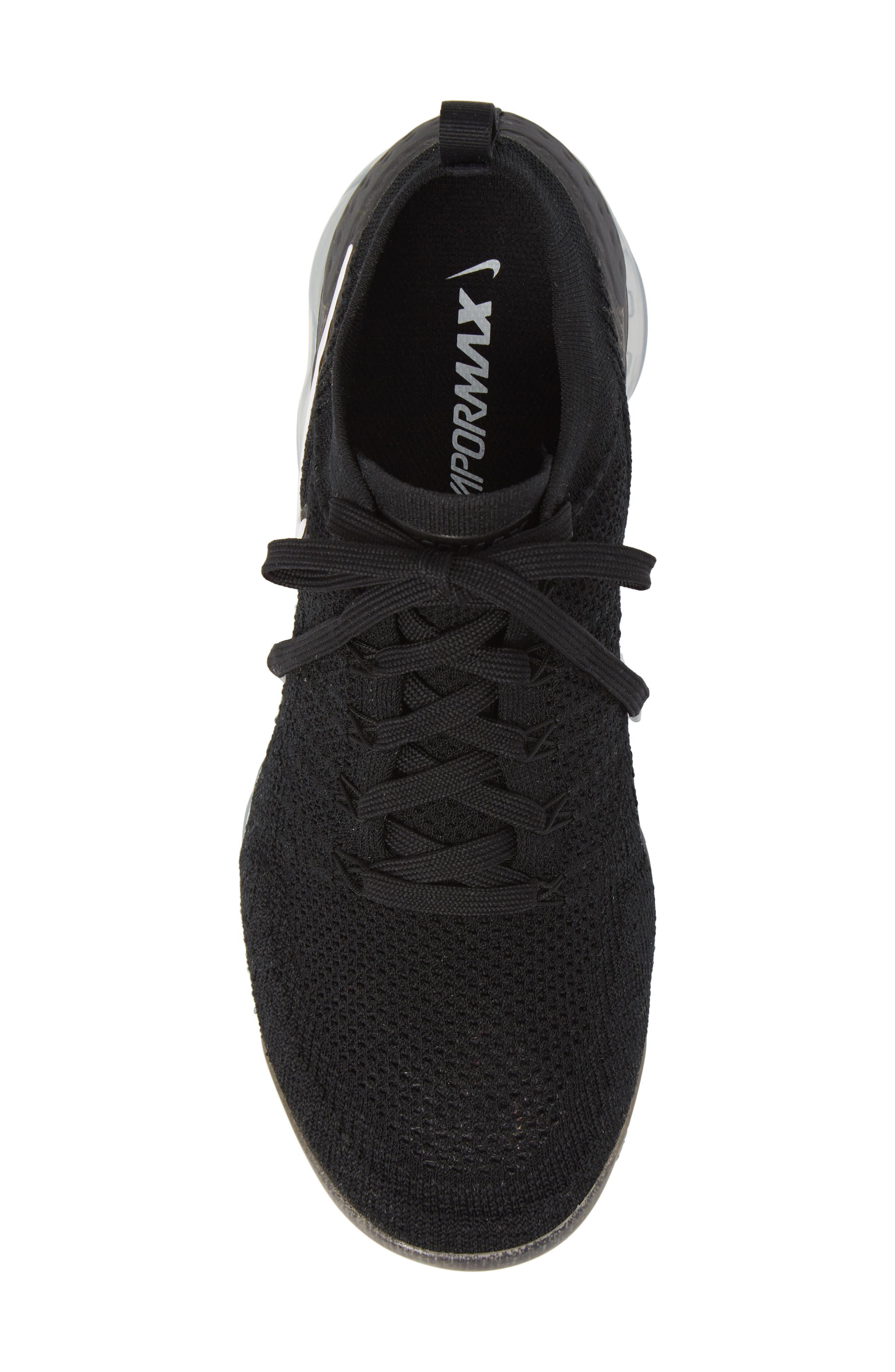 Air Vapormax Flyknit 2 Running Shoe,                             Alternate thumbnail 5, color,                             Black/ White/ Dark Grey
