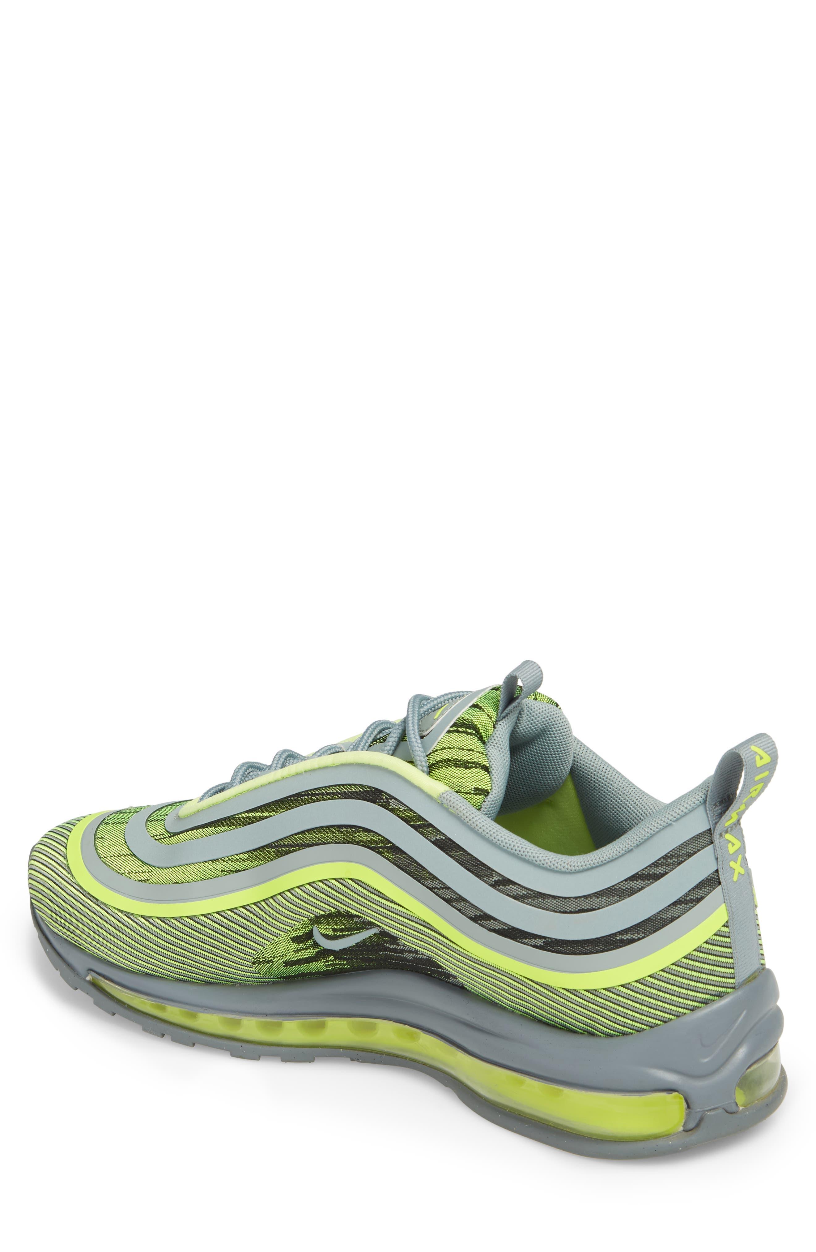 Air Max 97 Ultra '17 Sneaker,                             Alternate thumbnail 2, color,                             Volt/ Mica Green/ Cool Grey