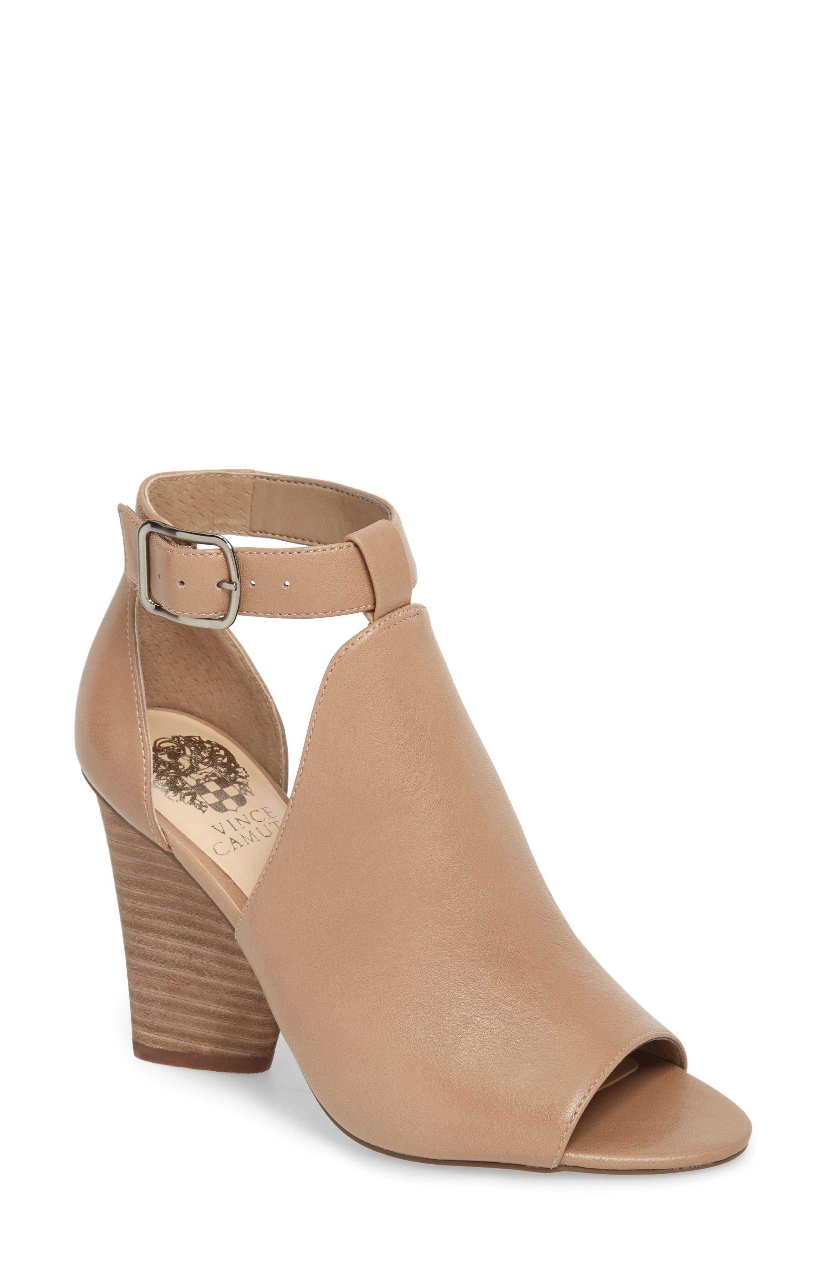Adaren Peep Toe Sandal,                         Main,                         color, Dusty Trail Leather