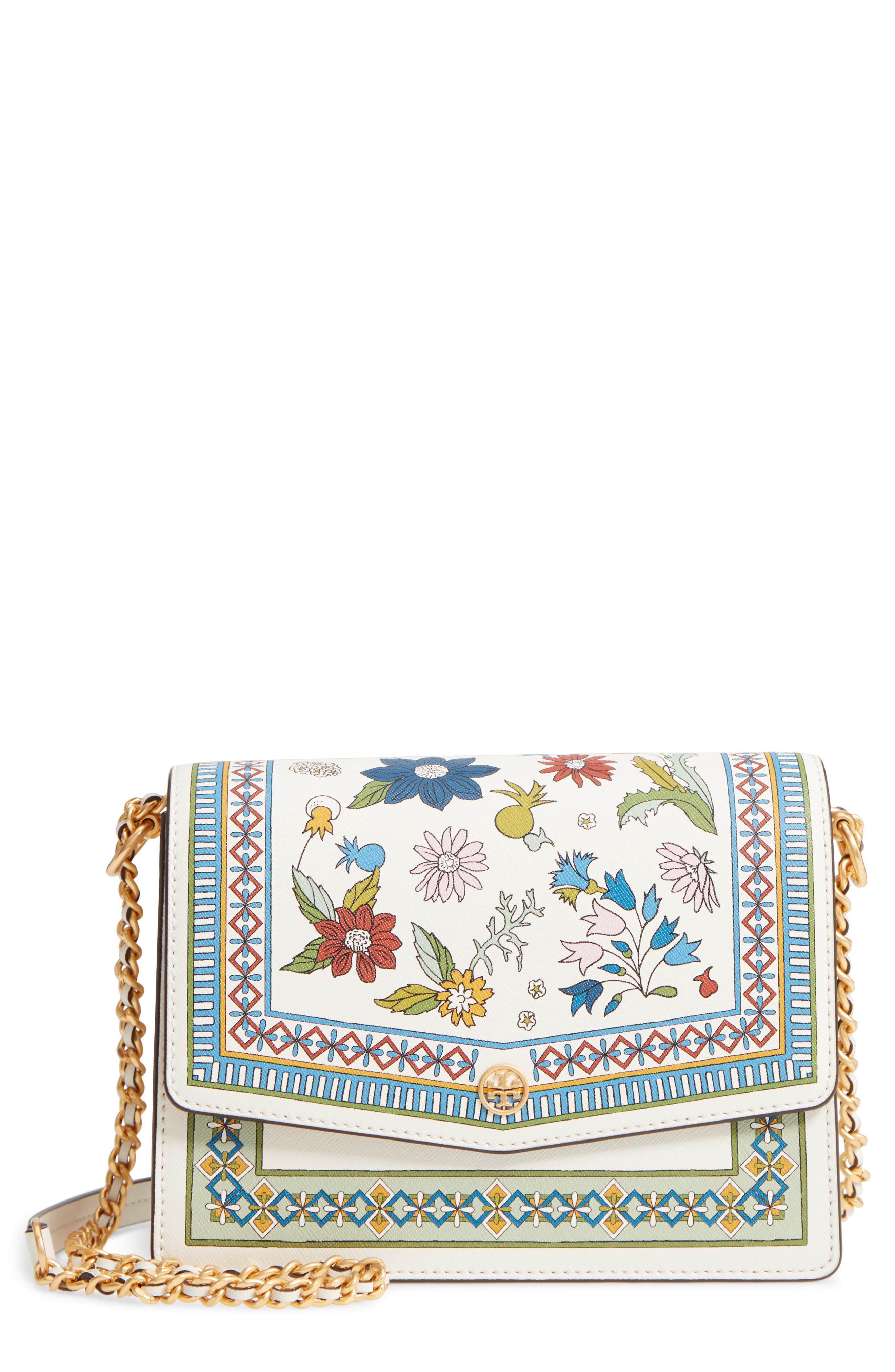 Robinson Floral Print Shoulder Bag,                         Main,                         color, Meadow Sweet / New Ivory