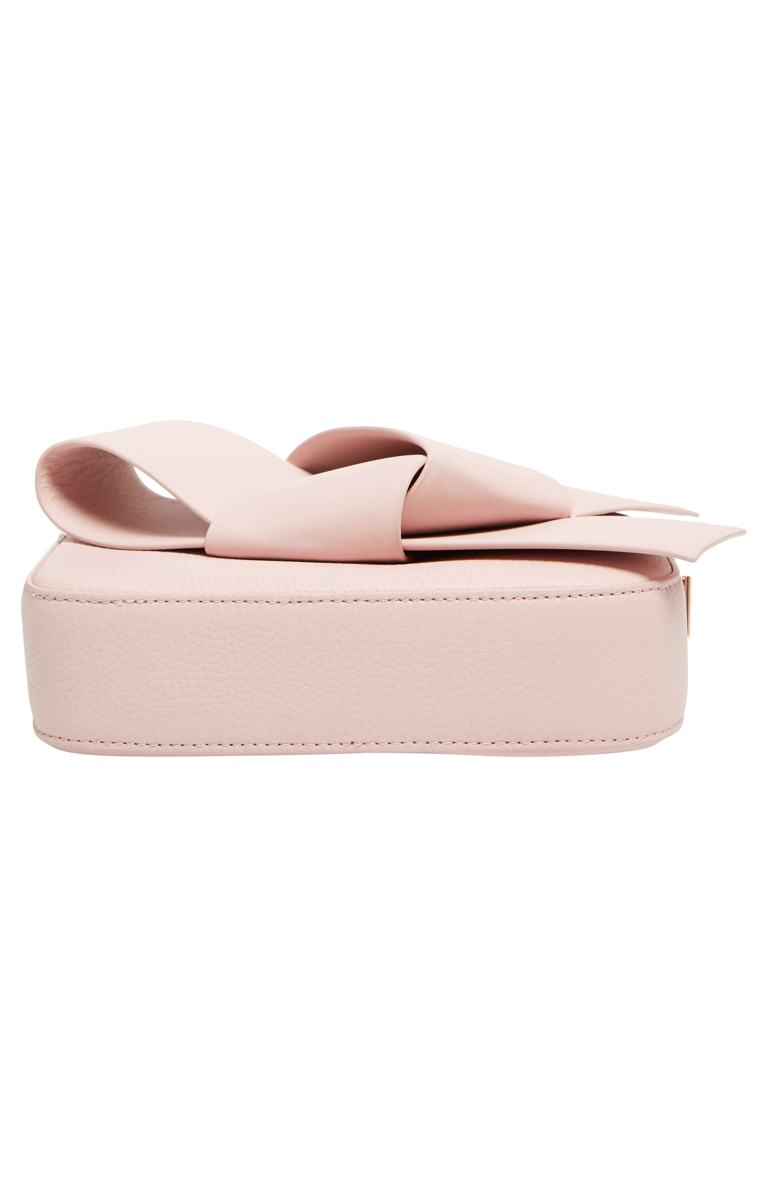 Giant Knot Leather Camera Bag,                             Alternate thumbnail 6, color,                             Nude Pink