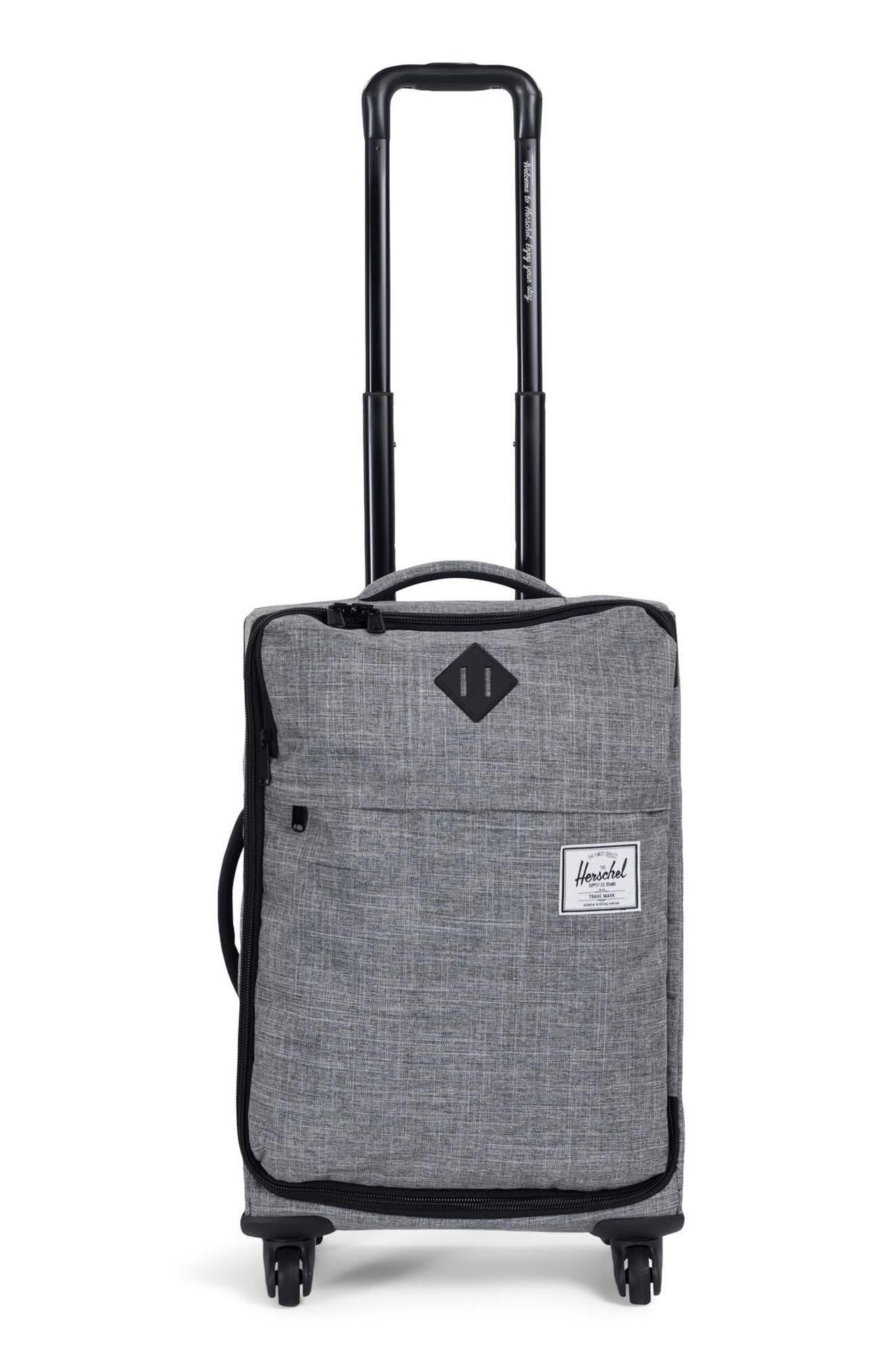 Highland Wheeled Suitcase - Grey, Raven Crosshatch