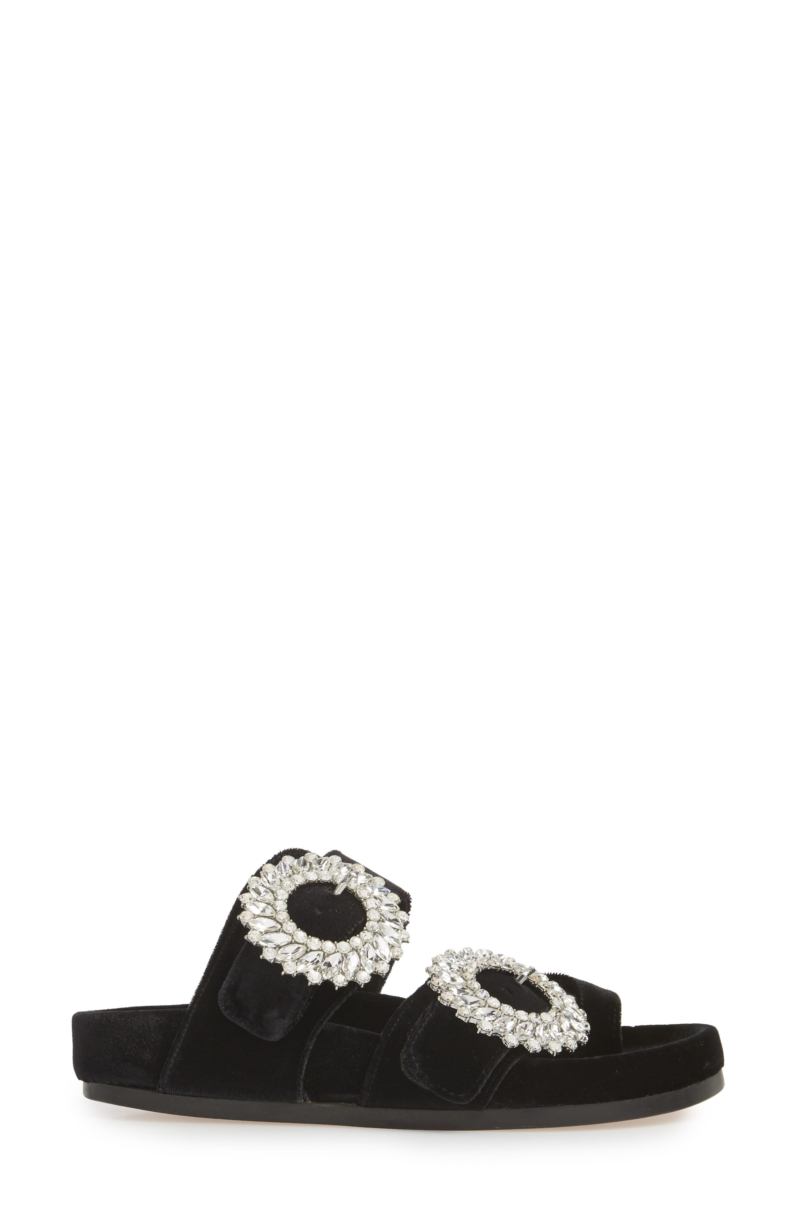 Maui2 Sandal,                             Alternate thumbnail 3, color,                             Black Velvet/ White