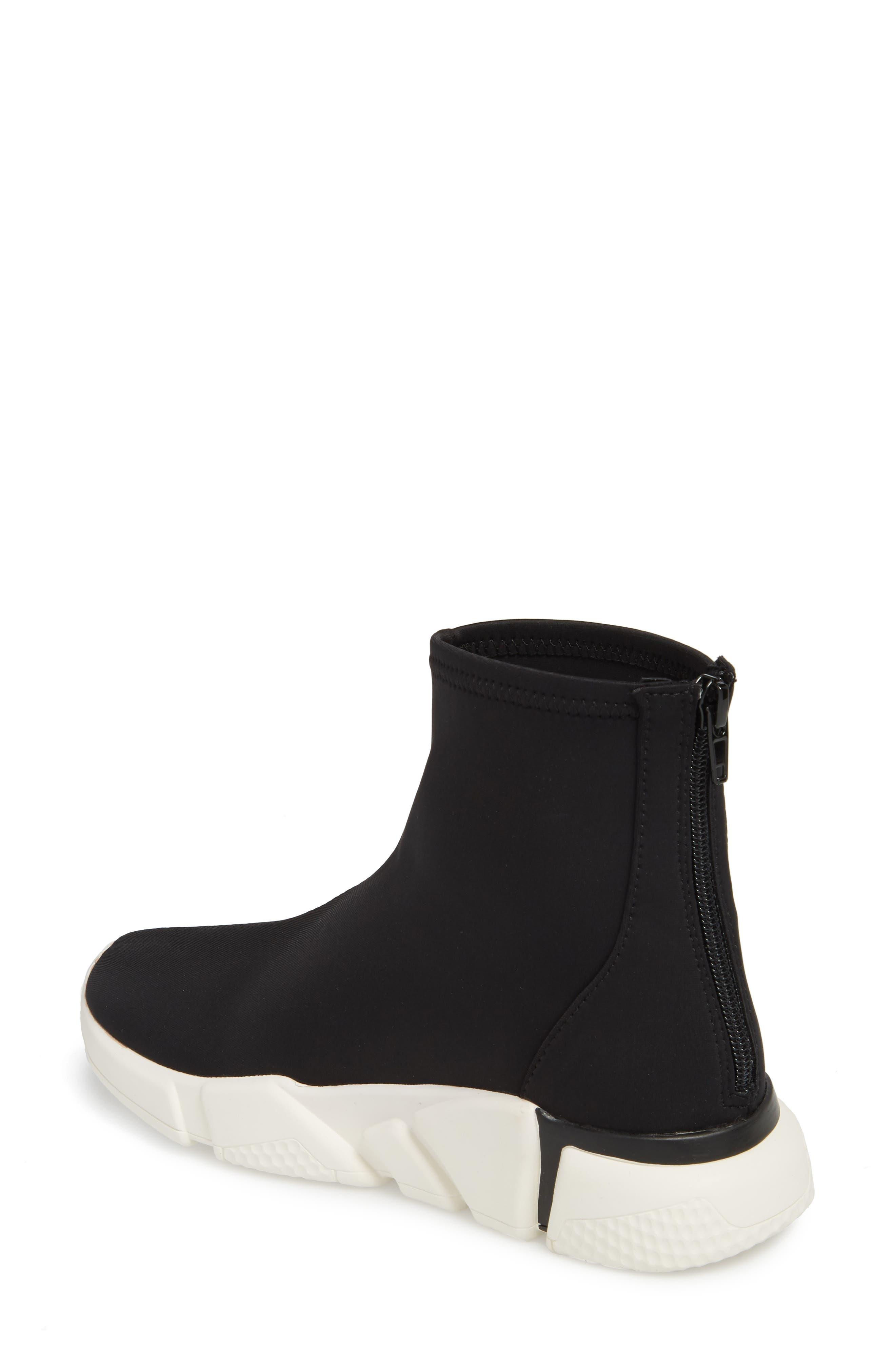 Sock Sneaker,                             Alternate thumbnail 2, color,                             Black / White