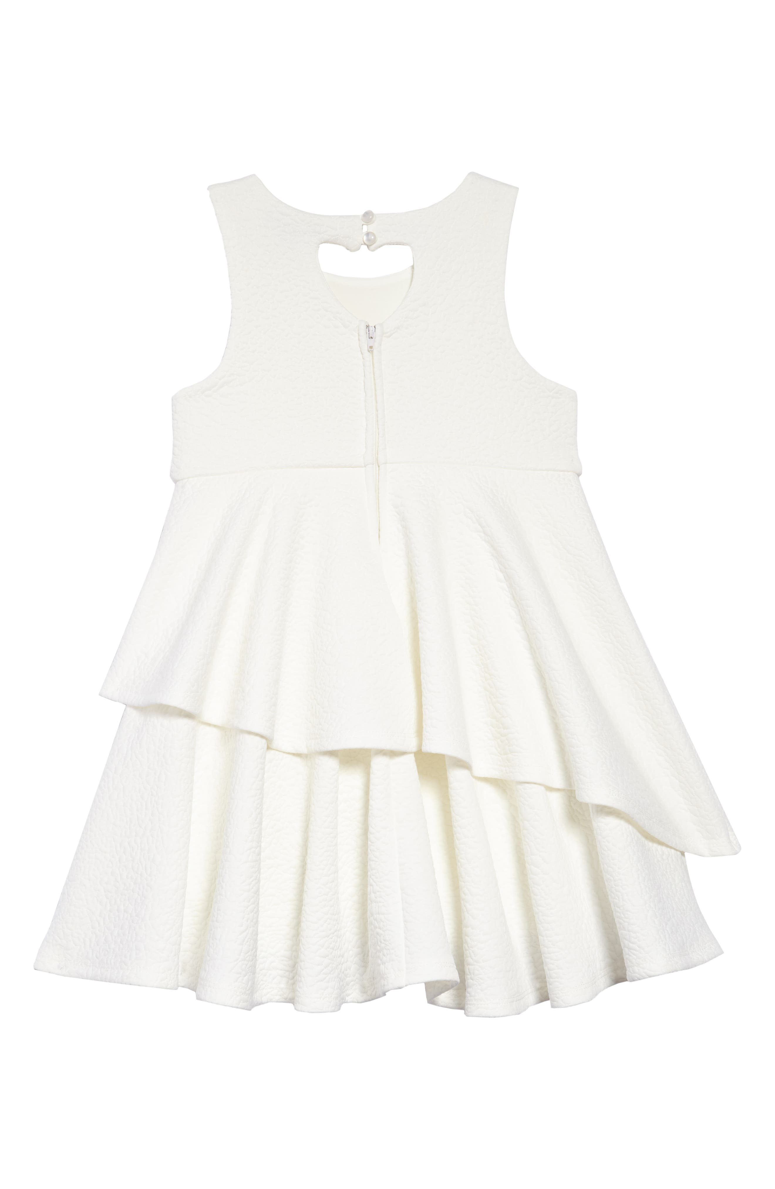 Tiered Dress,                             Alternate thumbnail 2, color,                             White