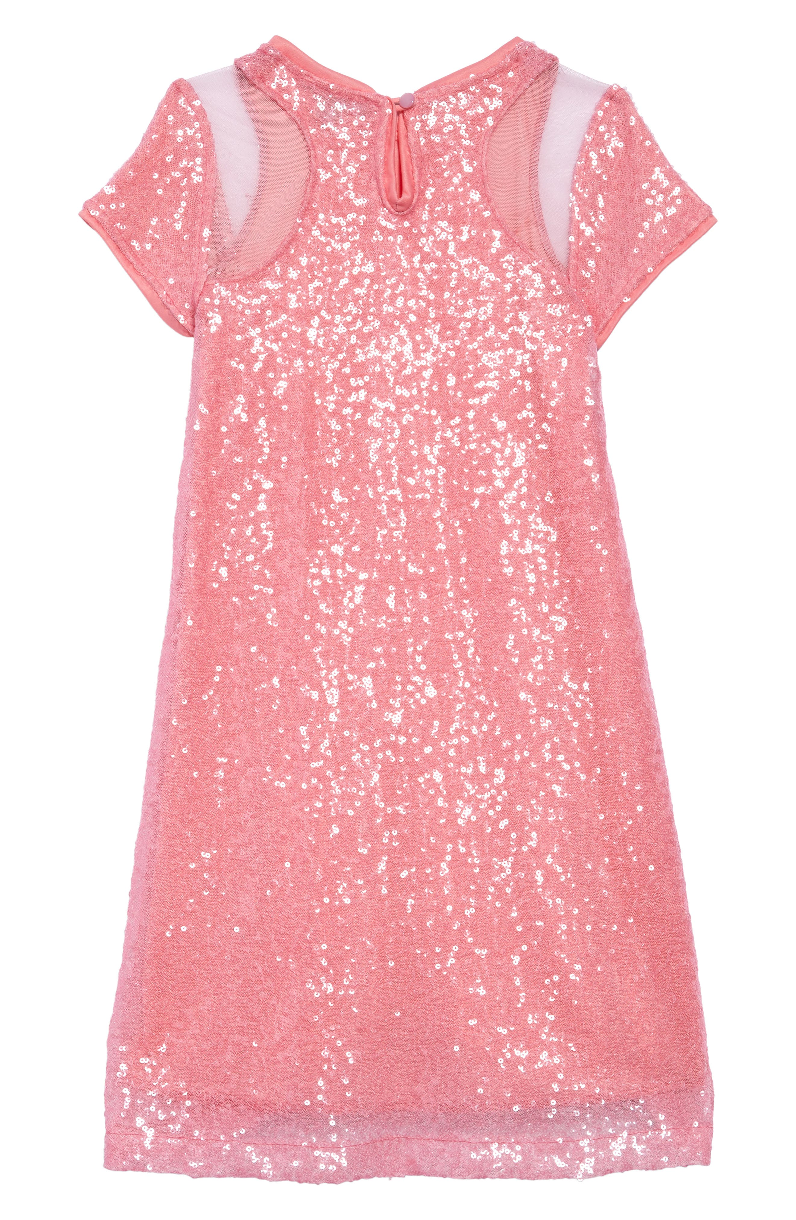 Daisy Sequin Shift Dress,                             Alternate thumbnail 2, color,                             Pink