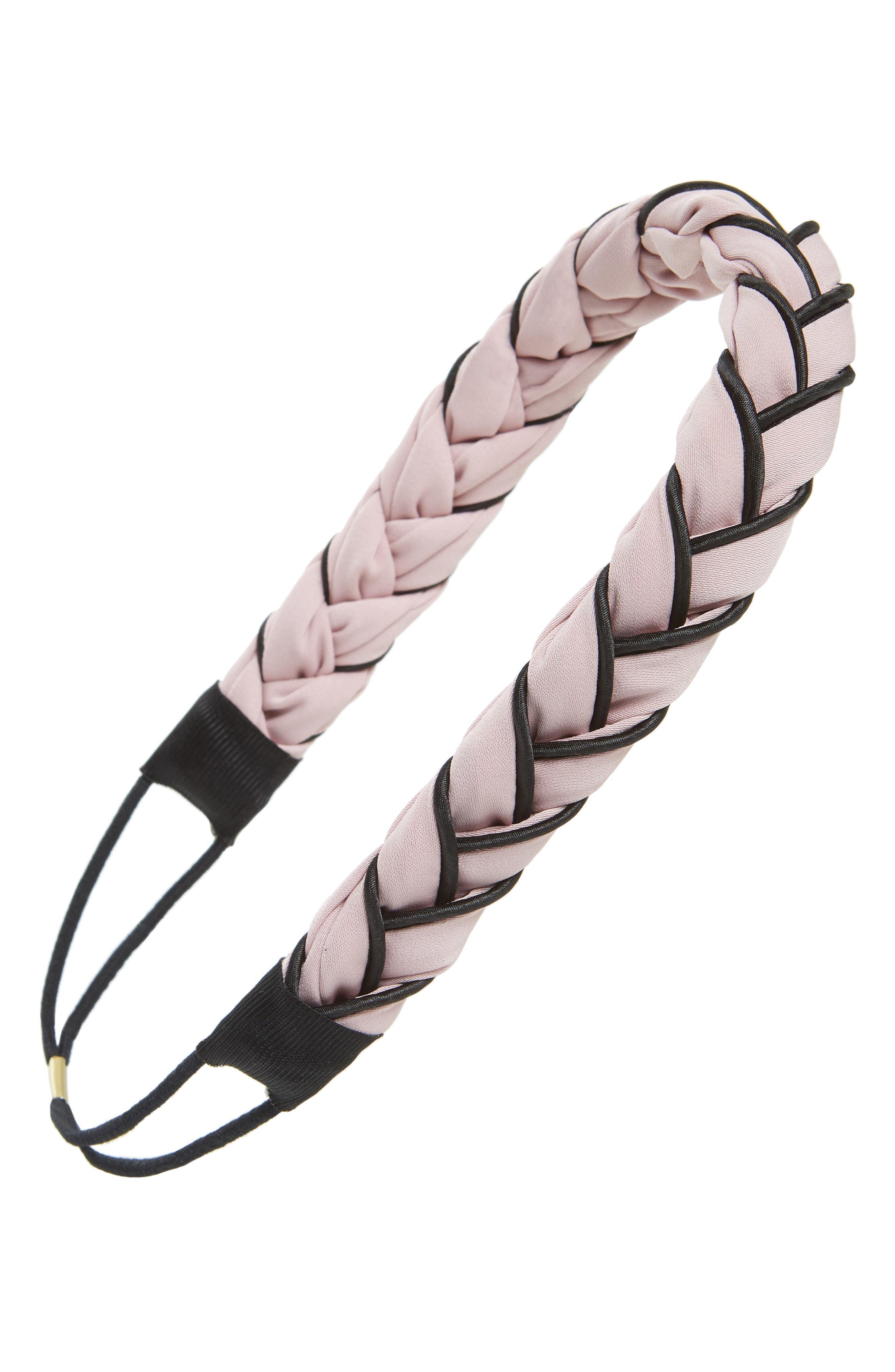 Twist Wrap Fabric Headband,                             Main thumbnail 1, color,                             Pink