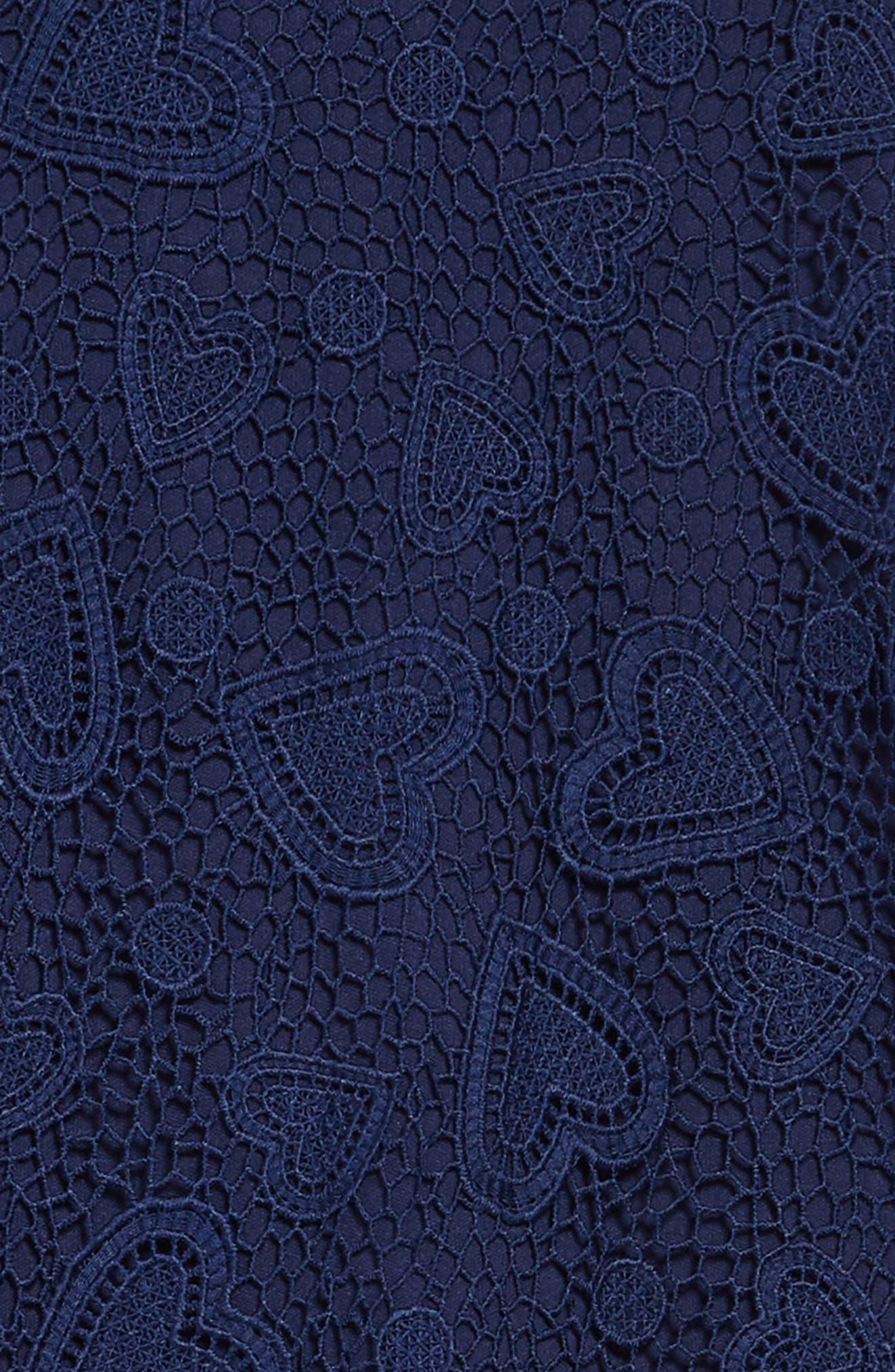 lace shift dress,                             Alternate thumbnail 3, color,                             New Navy