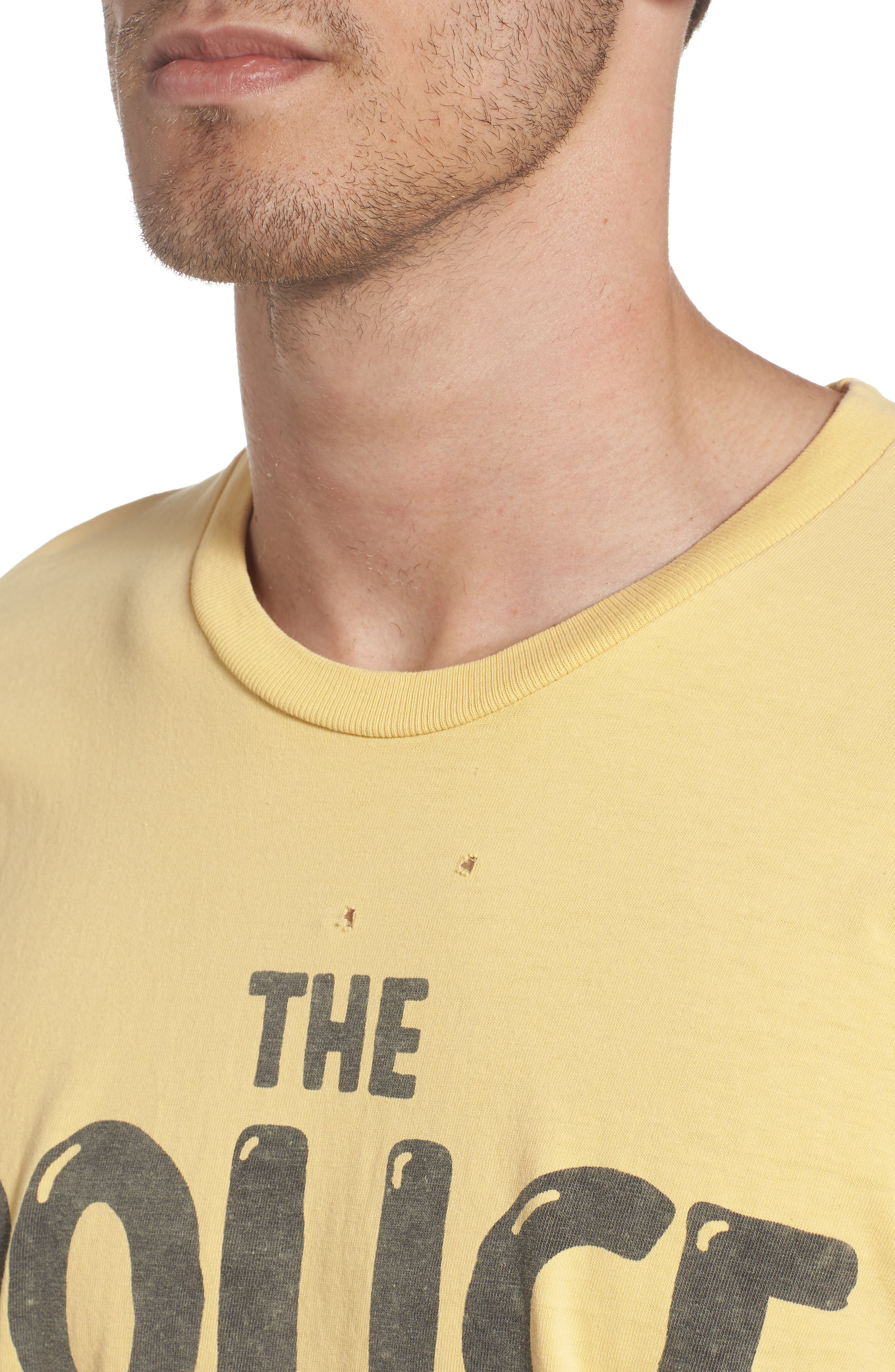 The Police Graphic T-Shirt,                             Alternate thumbnail 4, color,                             Antique Yellow