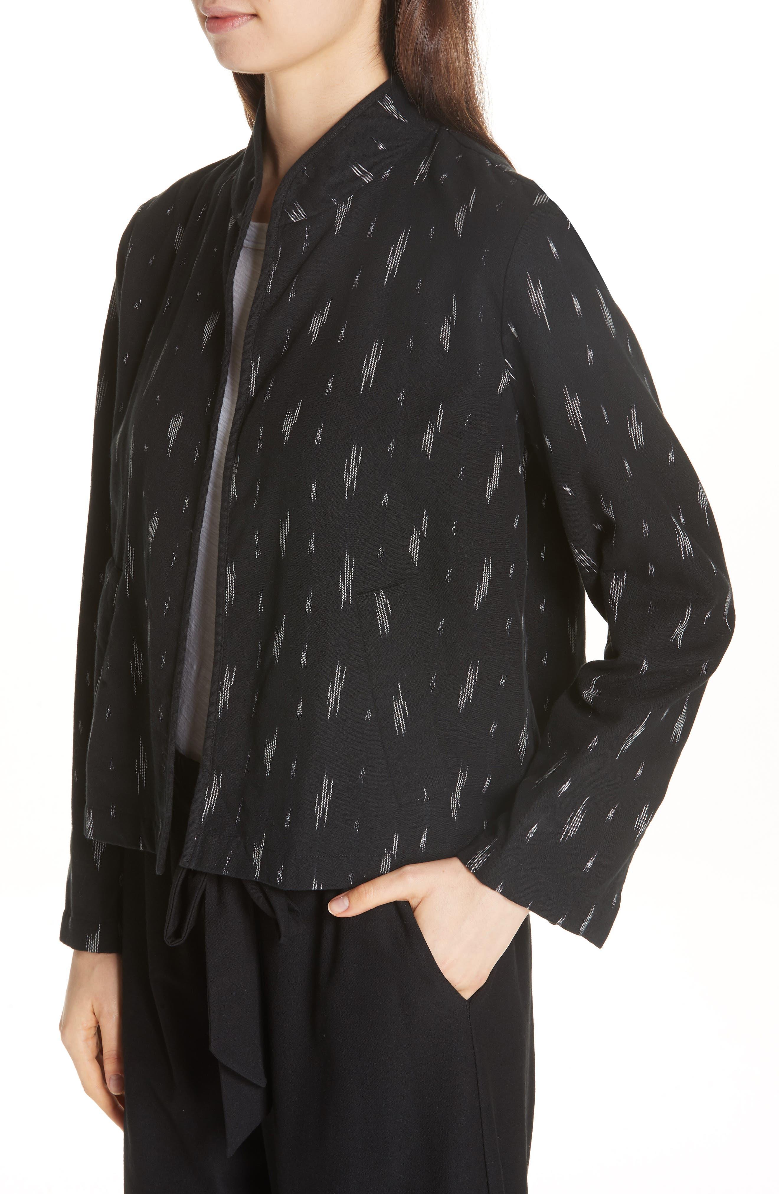 Organic Cotton Jacket,                             Alternate thumbnail 3, color,                             Black