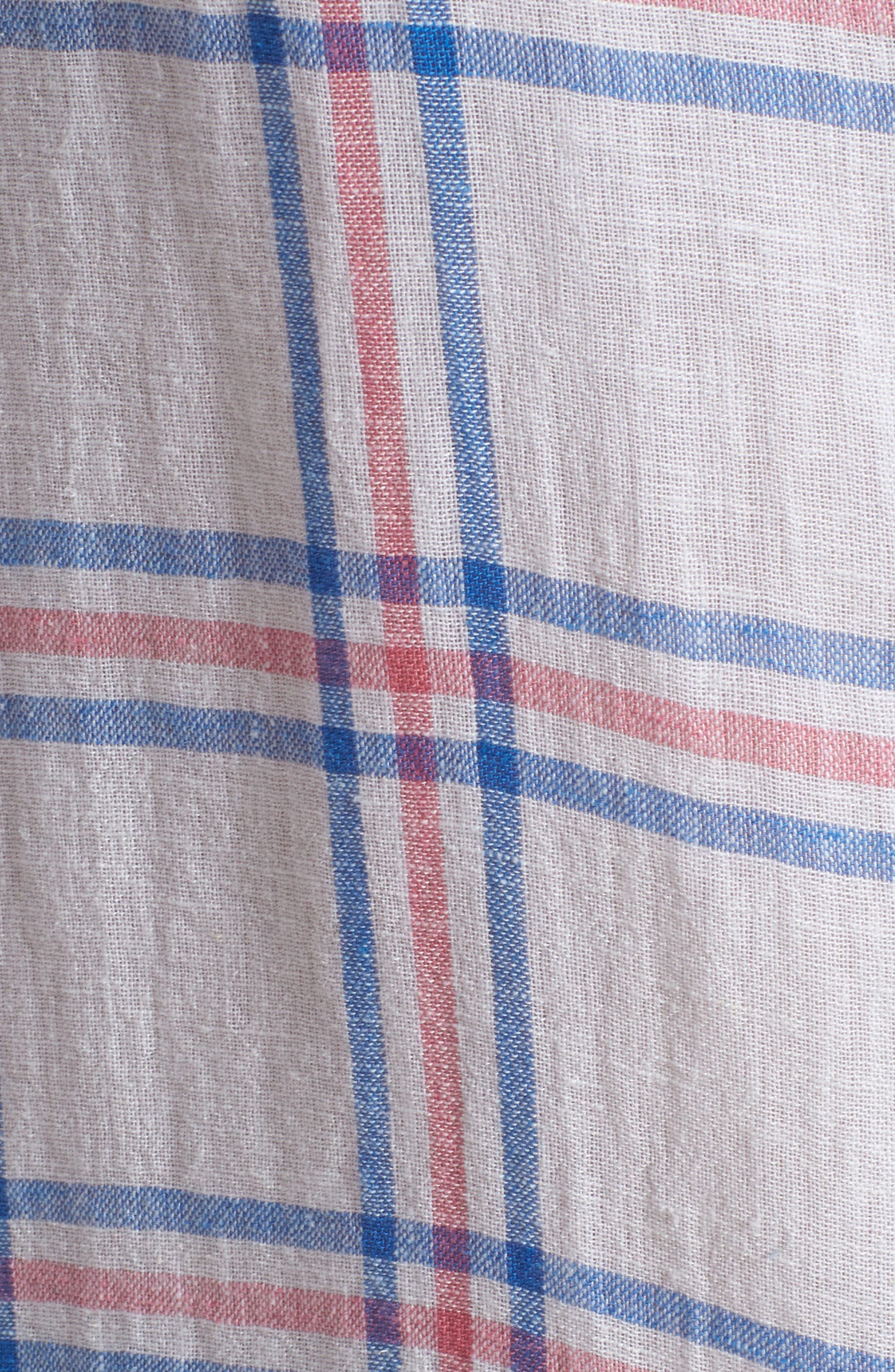 Sydney Stripe Shirt,                             Alternate thumbnail 7, color,                             Raspberry Azure White