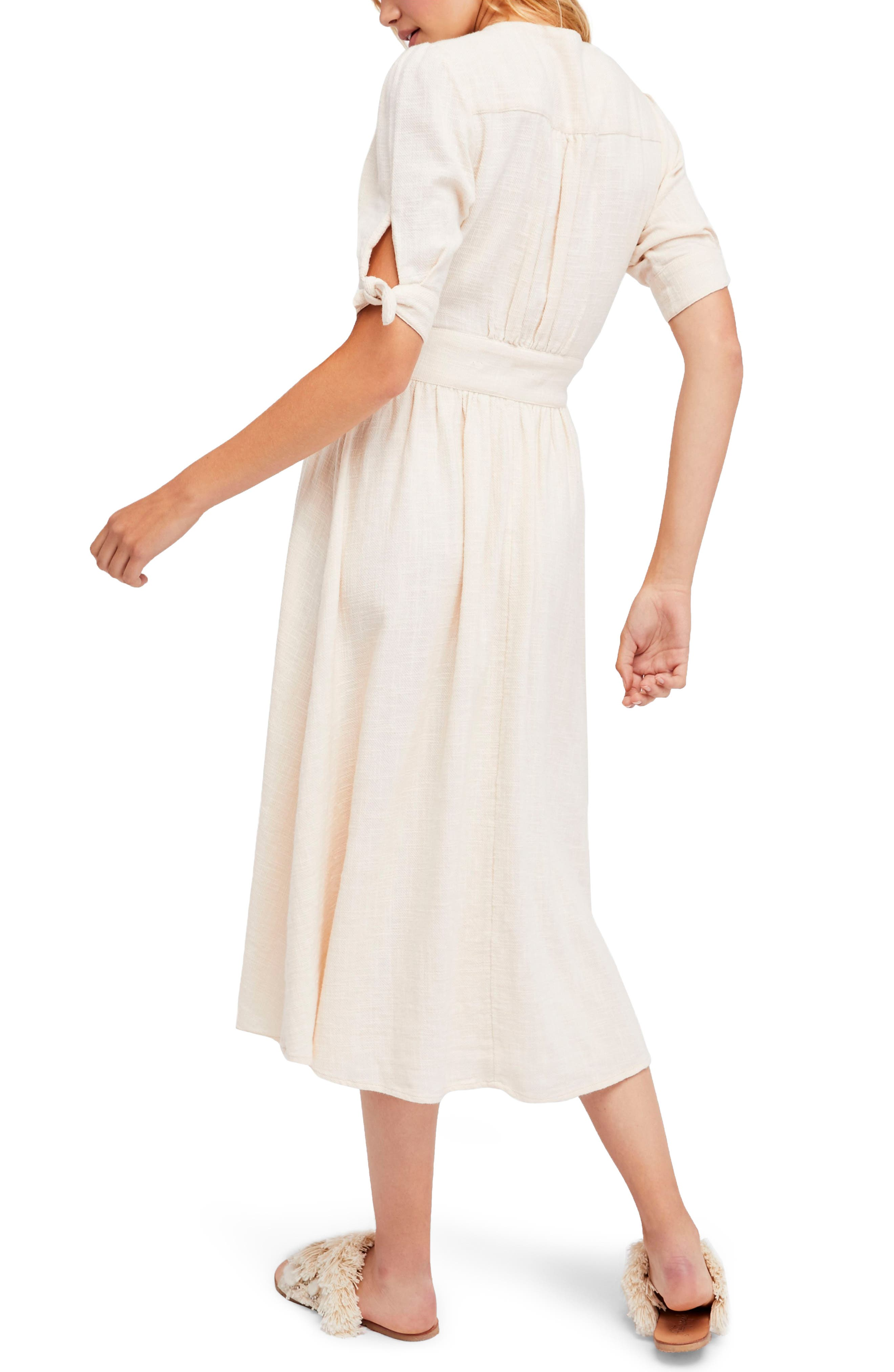 Love of My Life Midi Dress,                             Alternate thumbnail 2, color,                             Ivory