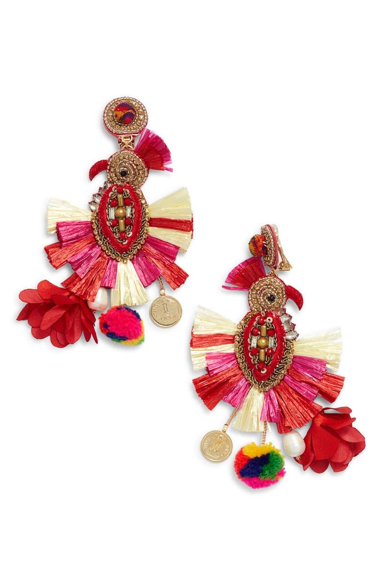 Ranjana Khan PHOENIX TASSEL EARRINGS
