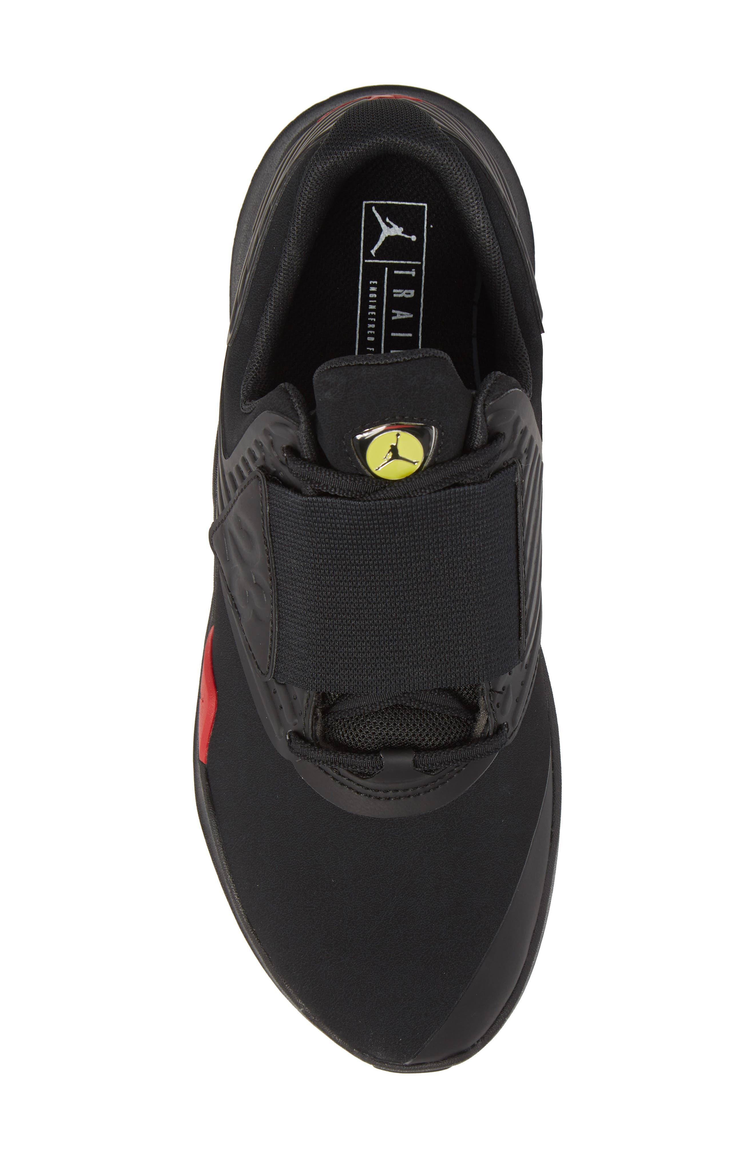 Air Jordan Relentless Training Sneaker,                             Alternate thumbnail 5, color,                             Black/ Varsity Red/ Dandelion