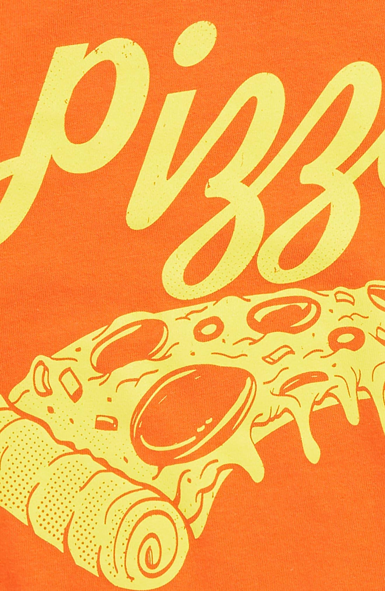 Graphic T-Shirt,                             Alternate thumbnail 2, color,                             Orange Cherry Pizza