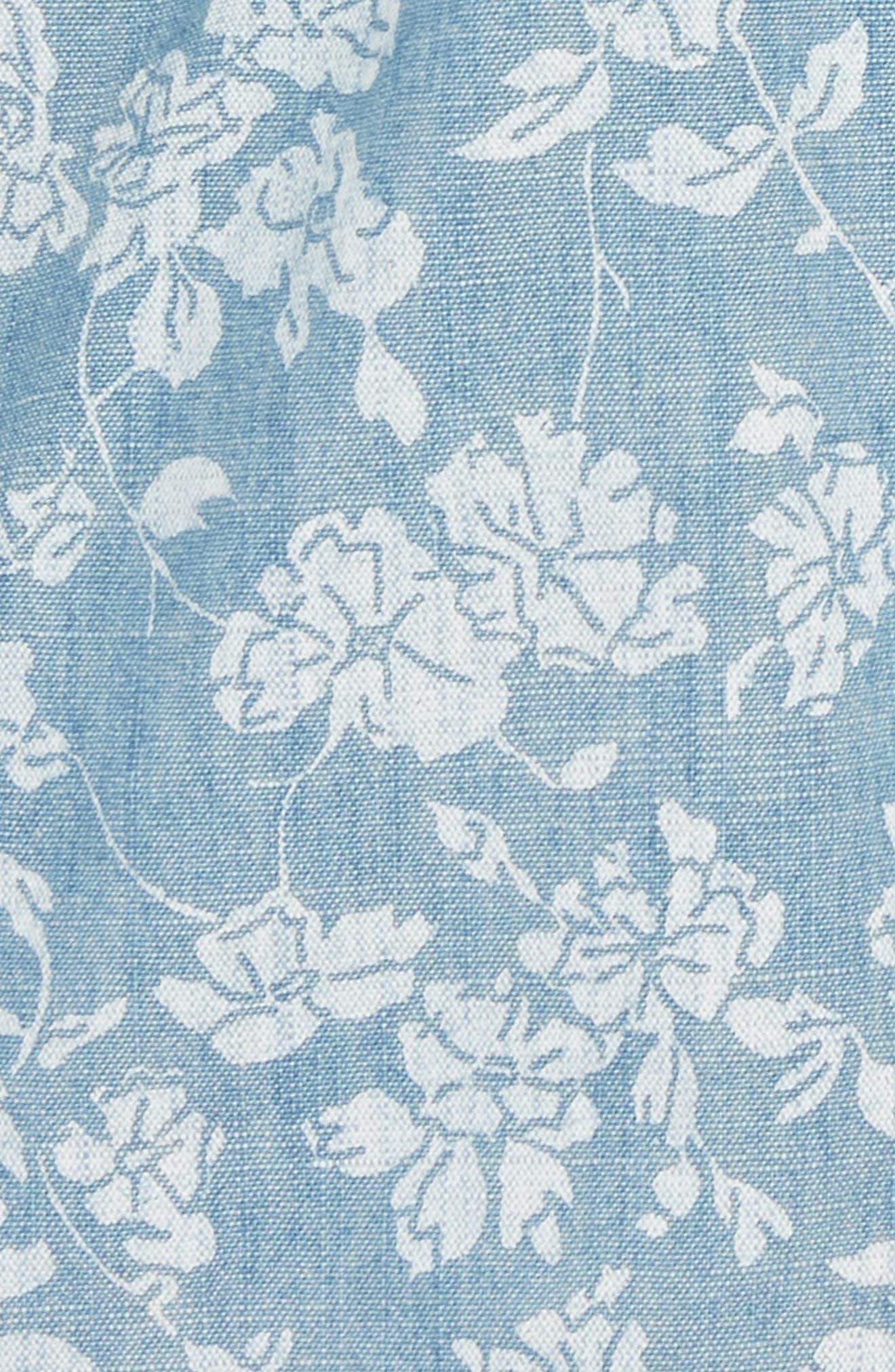 Floral Chambray Dock Shorts,                             Alternate thumbnail 3, color,                             Indigo