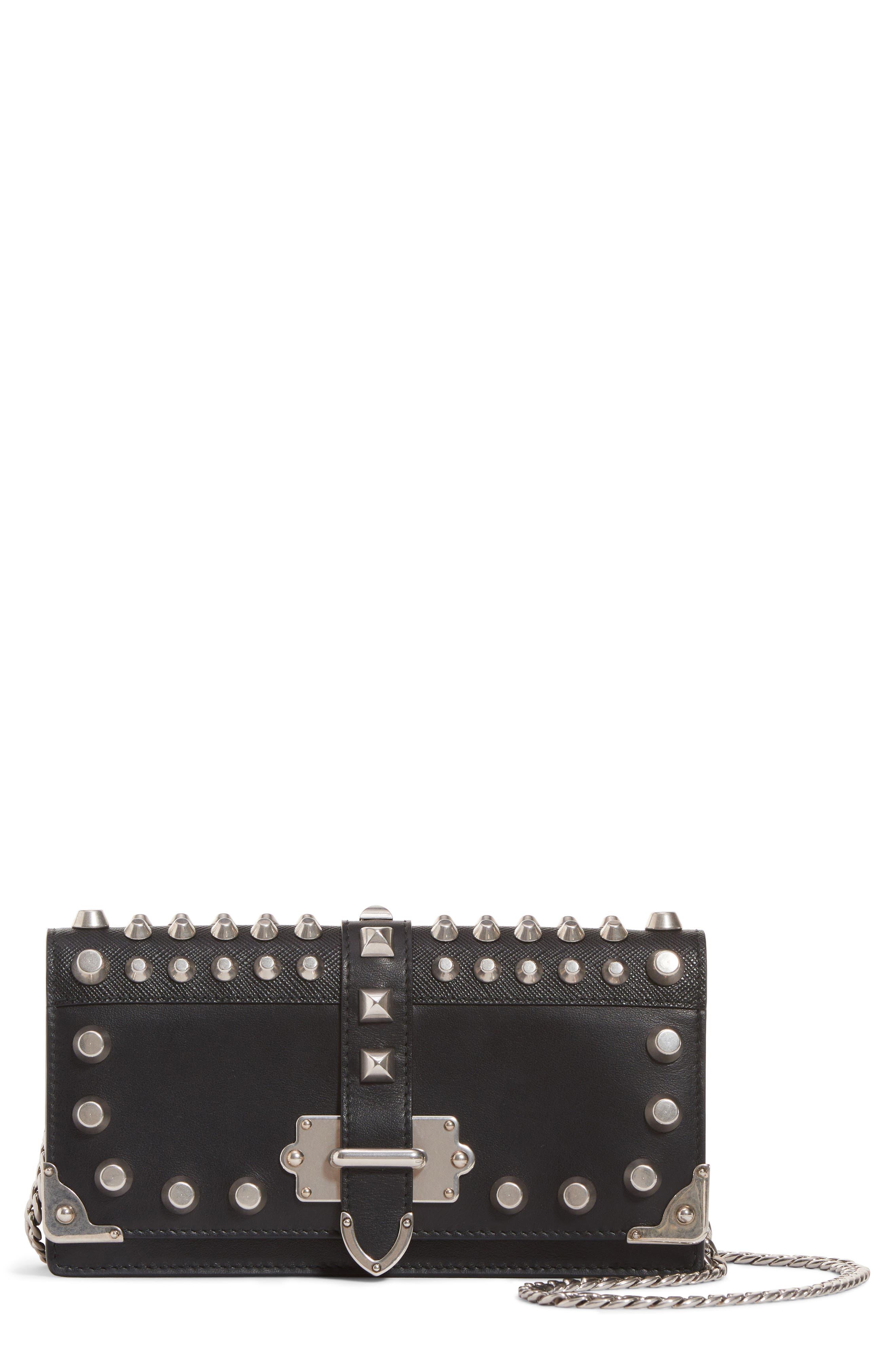 ec7ef6128d66 ... best prada cahier leather wallet on a chain ca0b9 b3935