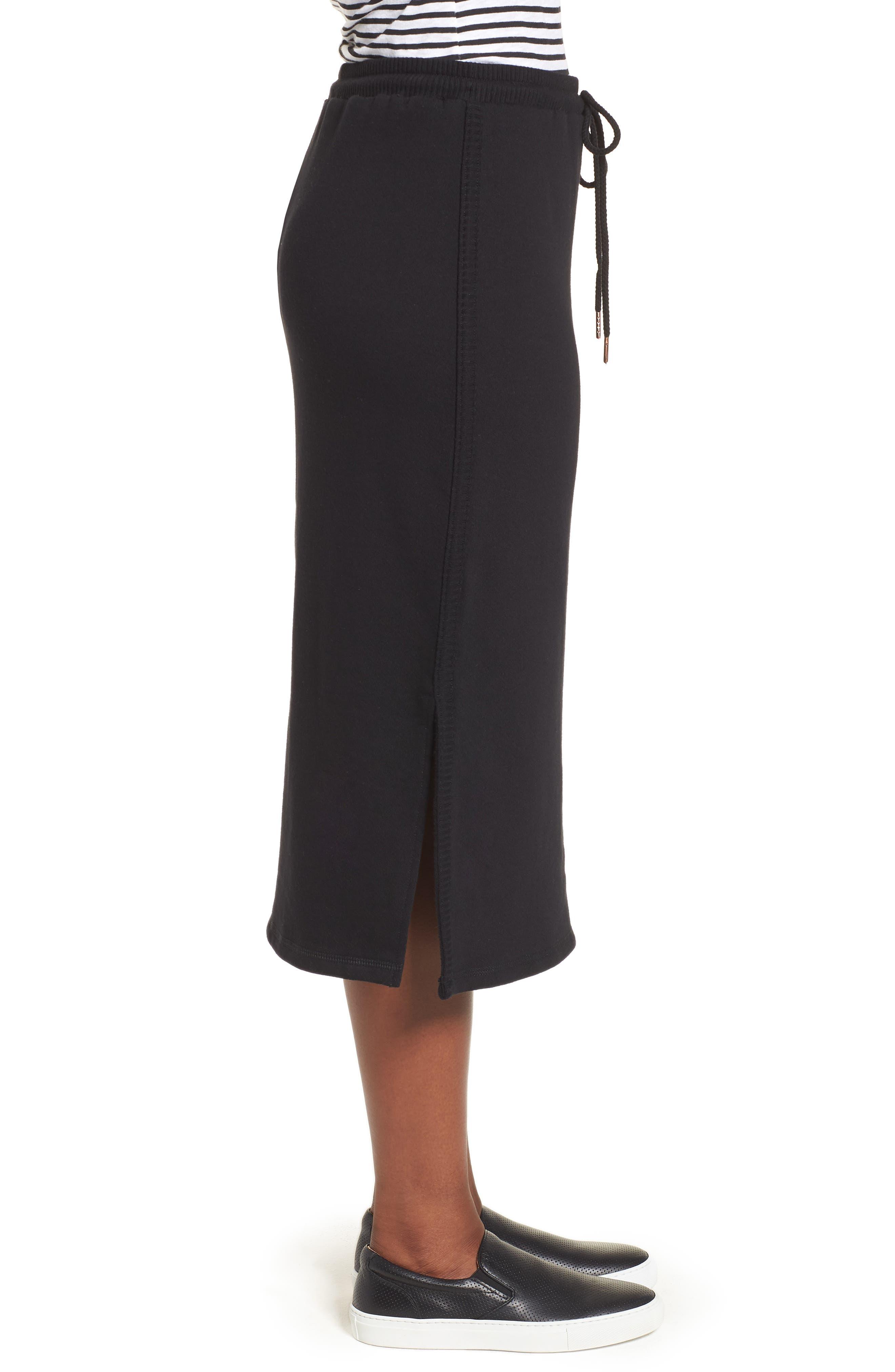 Off-Duty Drawstring Skirt,                             Alternate thumbnail 3, color,                             Black