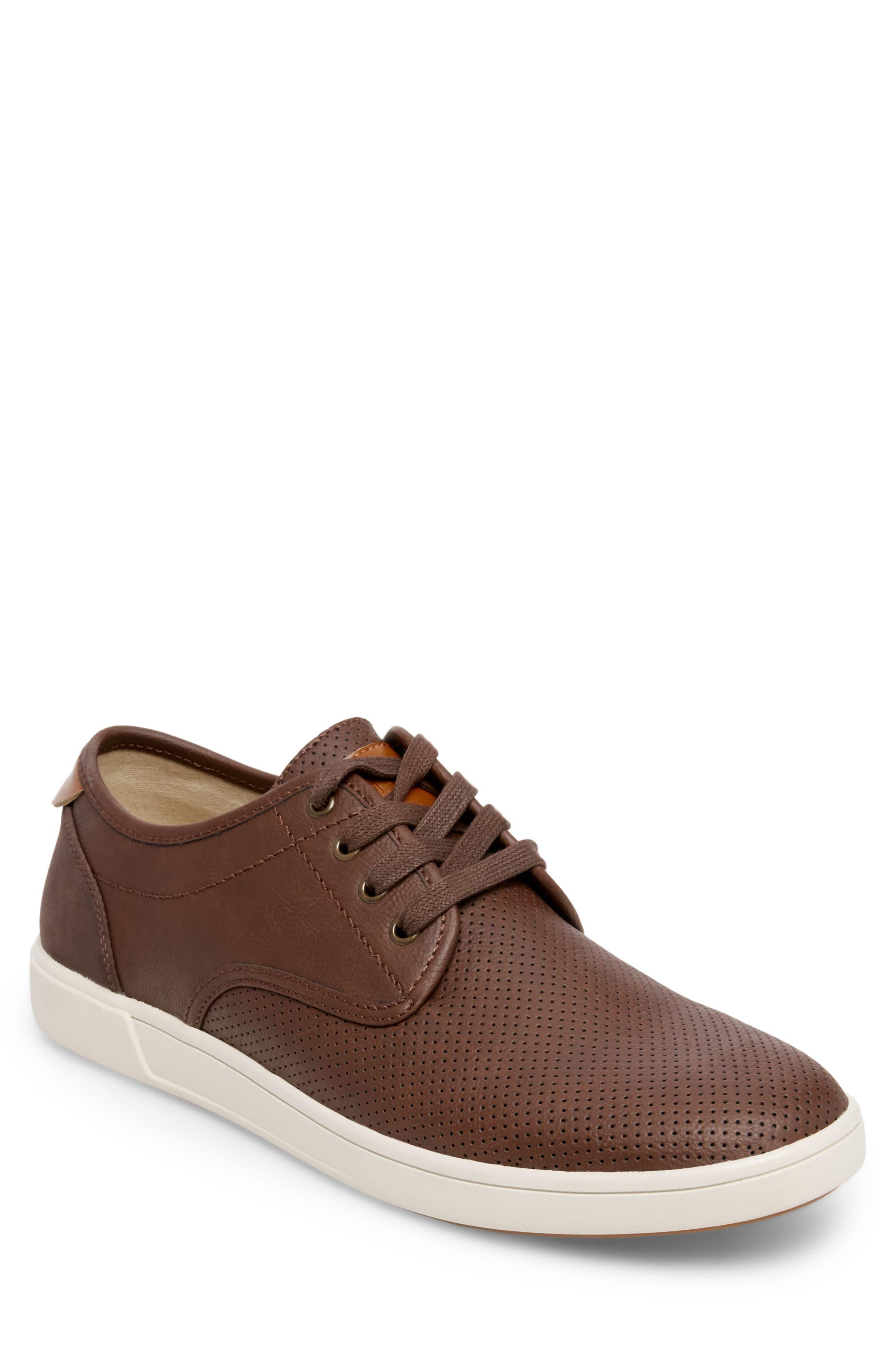 Flyerz Perforated Sneaker,                             Main thumbnail 1, color,                             Cognac