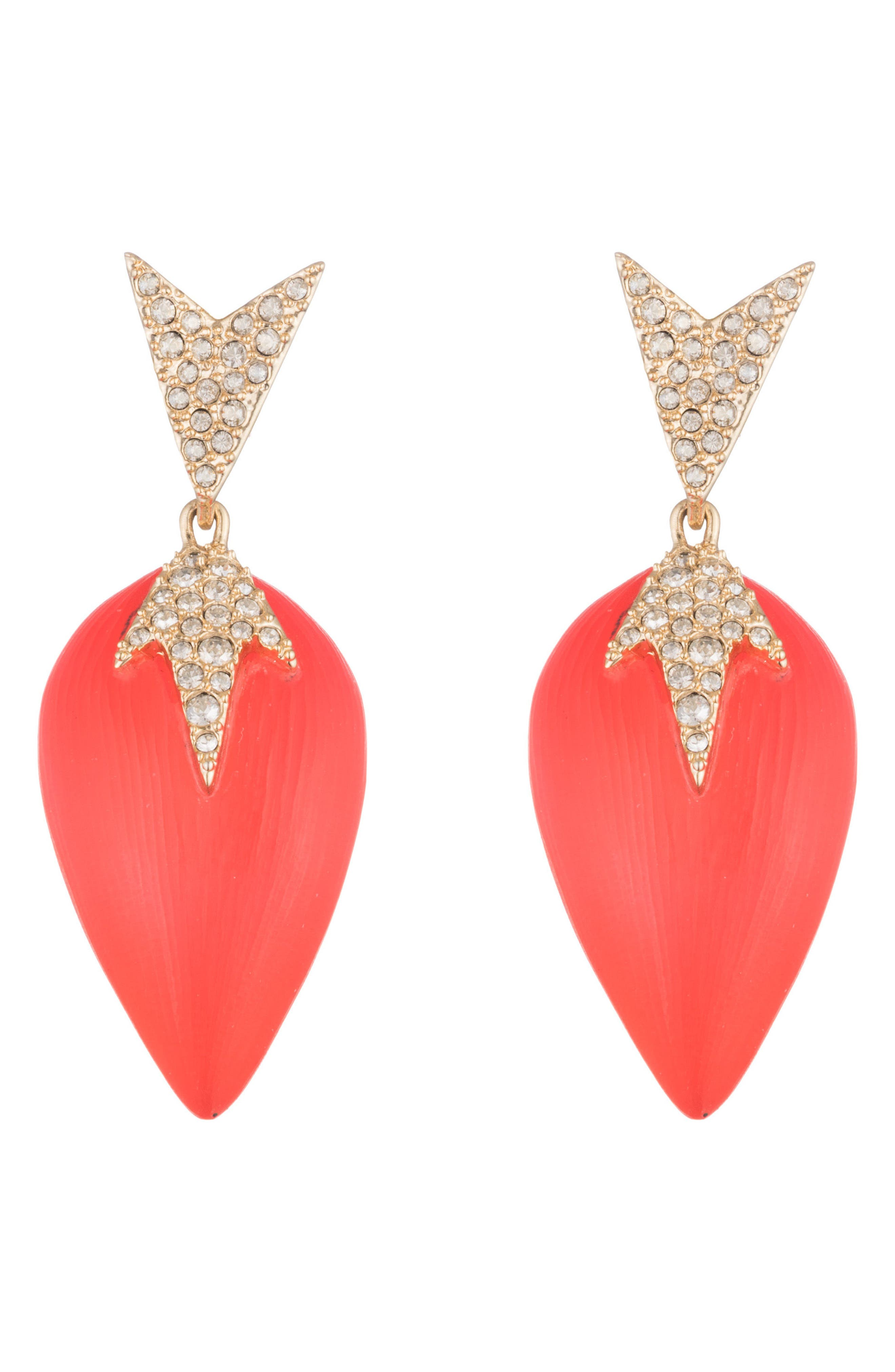 Lucite<sup>®</sup> Drop Post Earrings,                         Main,                         color, Coral