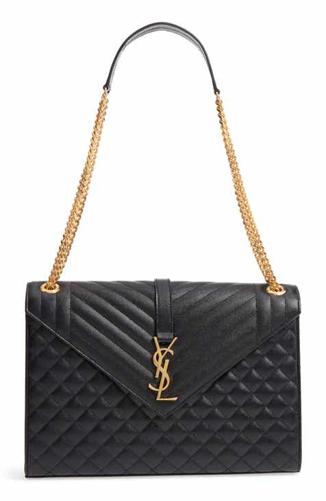 bc9fa6e23028 Saint Laurent Large Cassandra Calfskin Shoulder Bag