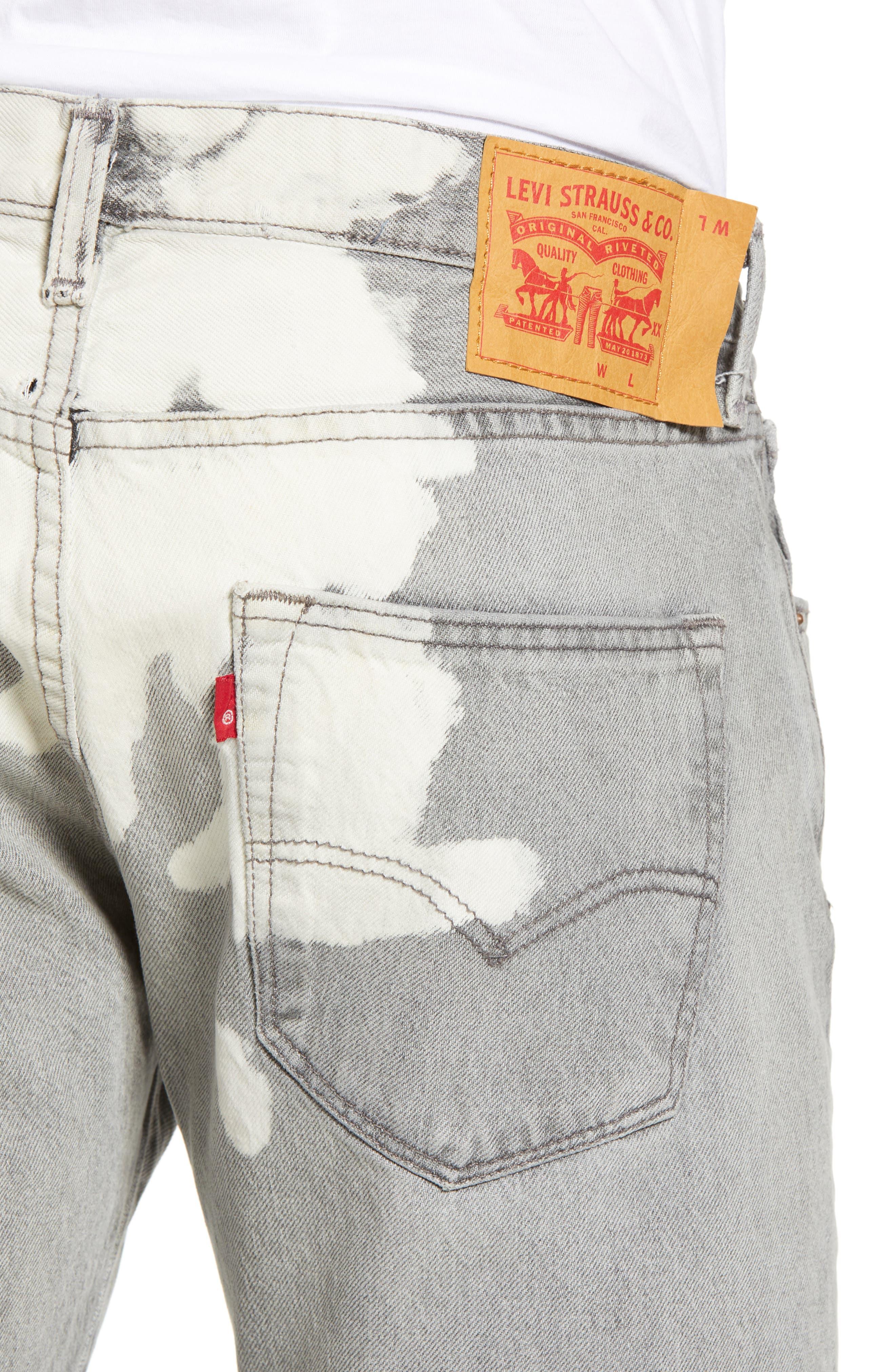 501<sup>™</sup> Straight Leg Jeans,                             Alternate thumbnail 4, color,                             Harris