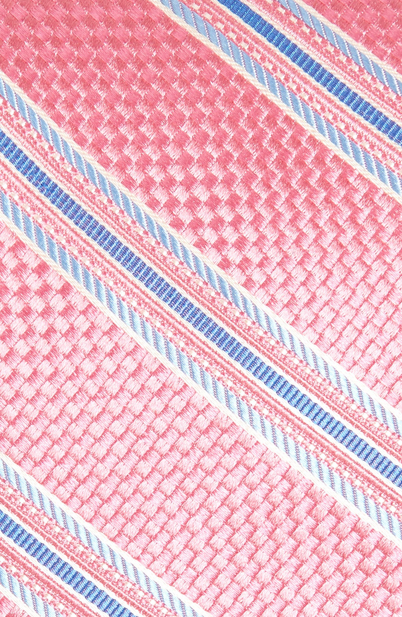Sunlit Stripe Silk Tie,                             Alternate thumbnail 2, color,                             Pink