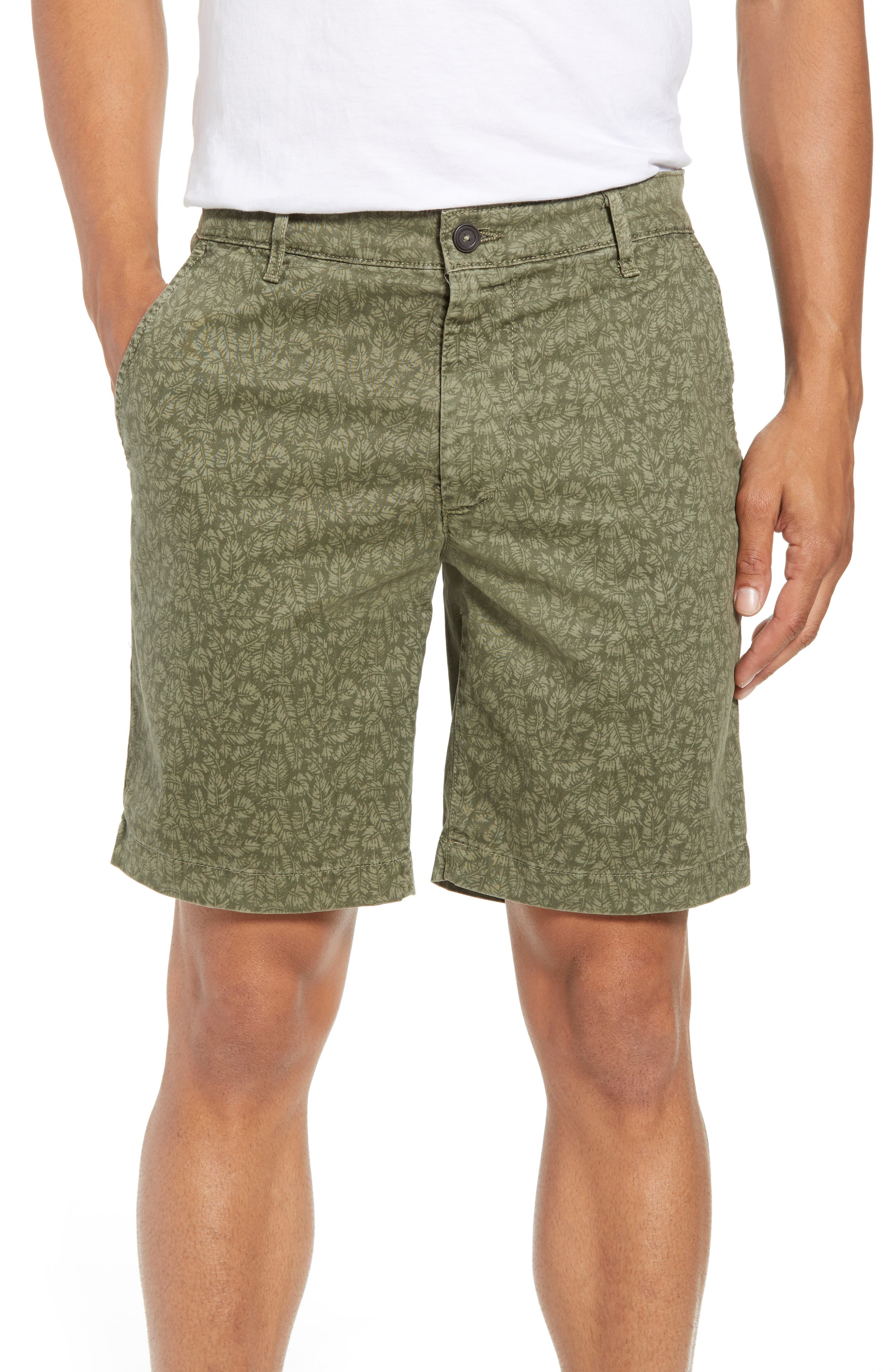 Lotas Slim Fit Stretch Cotton Shorts,                             Main thumbnail 1, color,                             Sulfur Dry Cypress