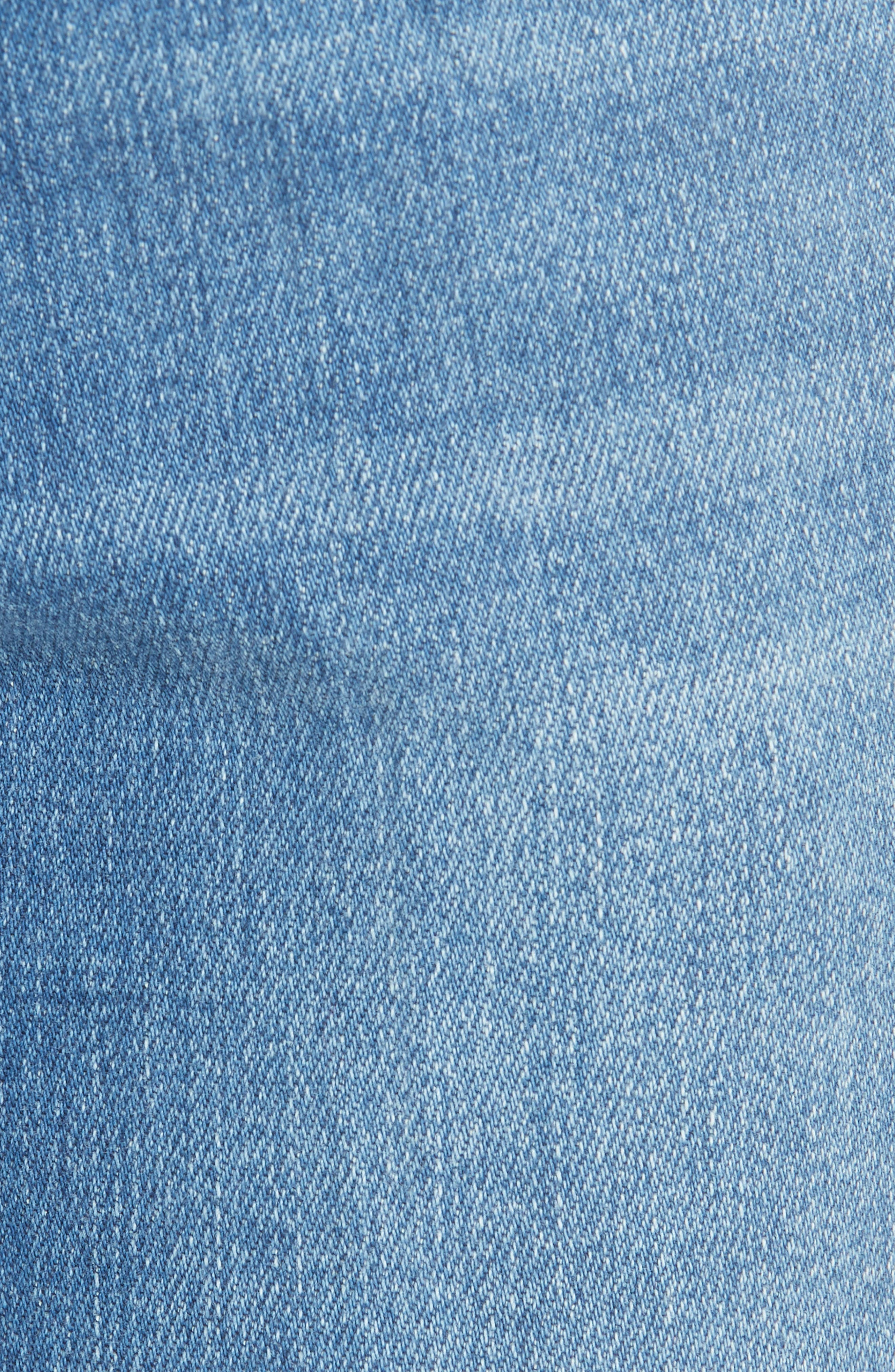 Le Slender Straight Leg Jeans,                             Alternate thumbnail 6, color,                             Thistle