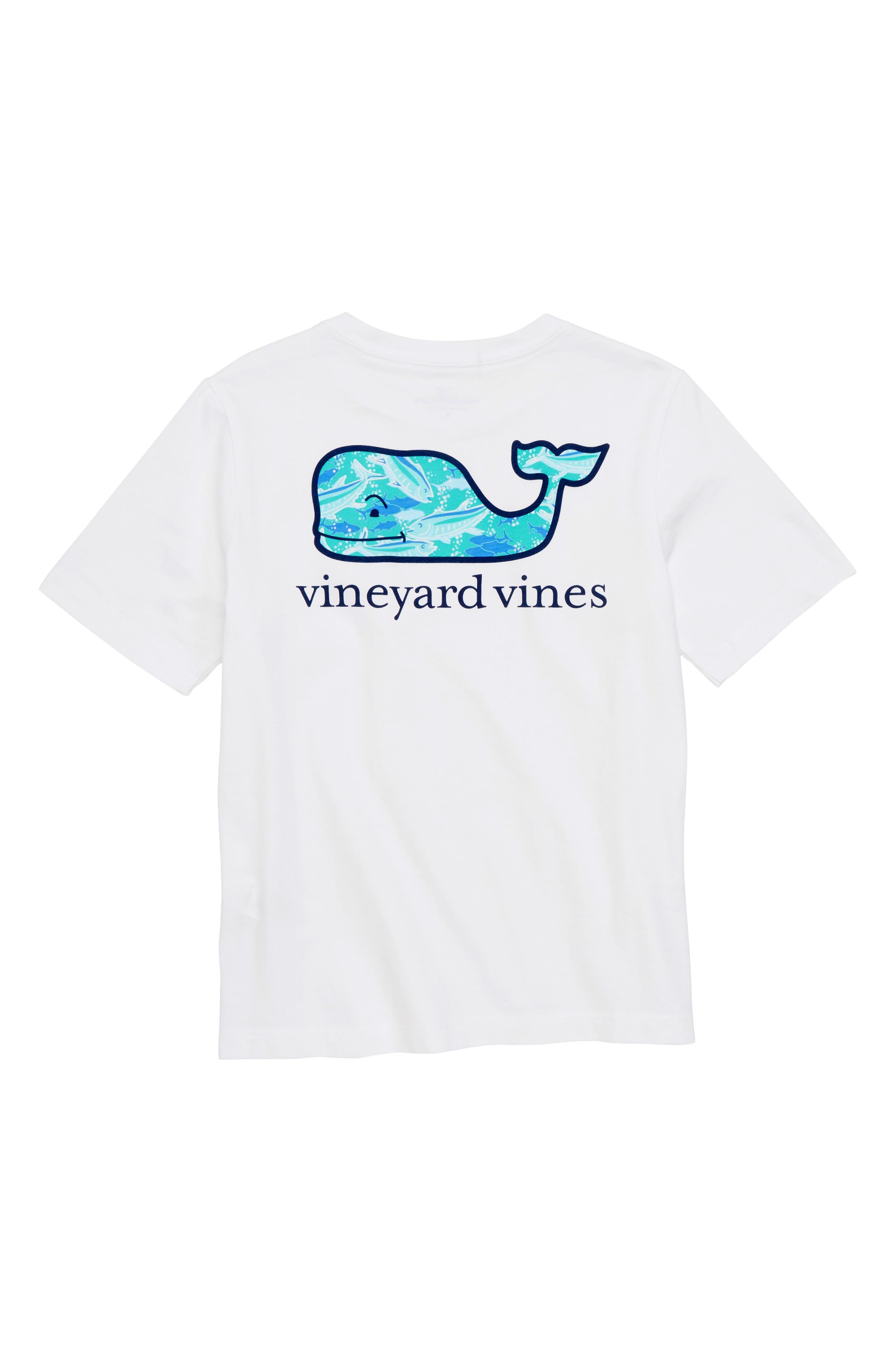 School of Tuna Whale Pocket T-Shirt,                             Alternate thumbnail 2, color,                             White Cap